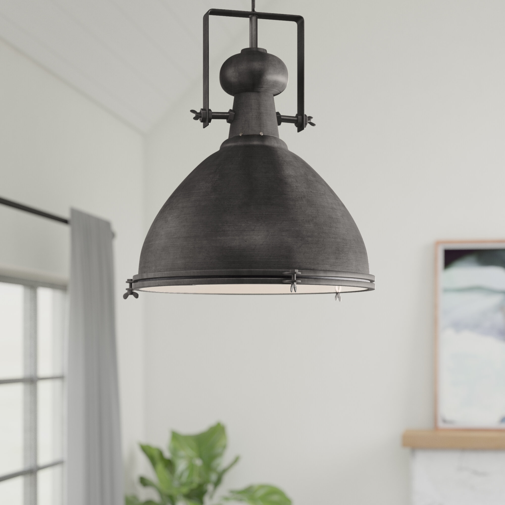 17 Stories Lavern 1 Light Single Dome Pendant For Hamilton 1 Light Single Dome Pendants (Gallery 6 of 30)
