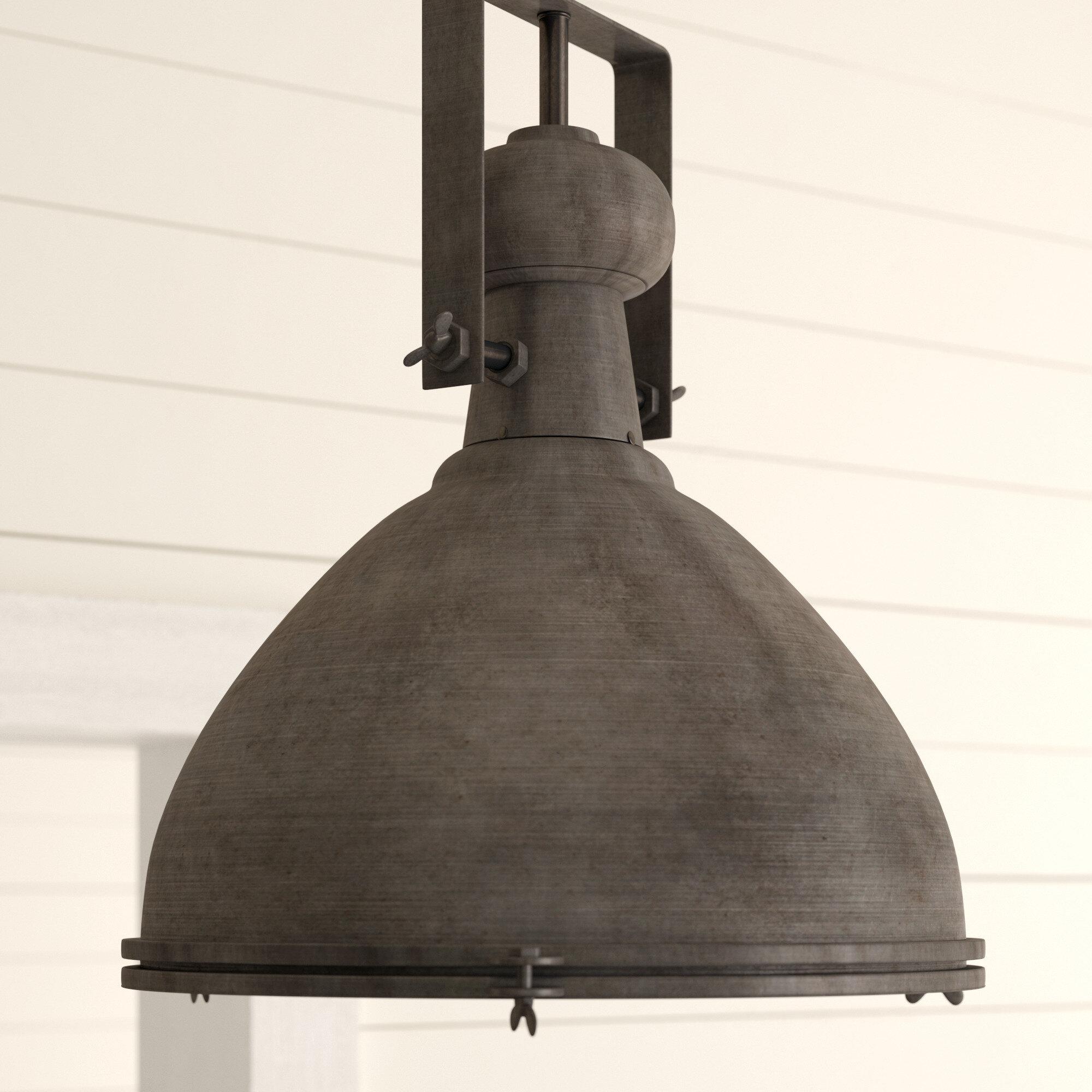 17 Stories Lavern 1-Light Single Dome Pendant regarding Macon 1-Light Single Dome Pendants (Image 4 of 30)