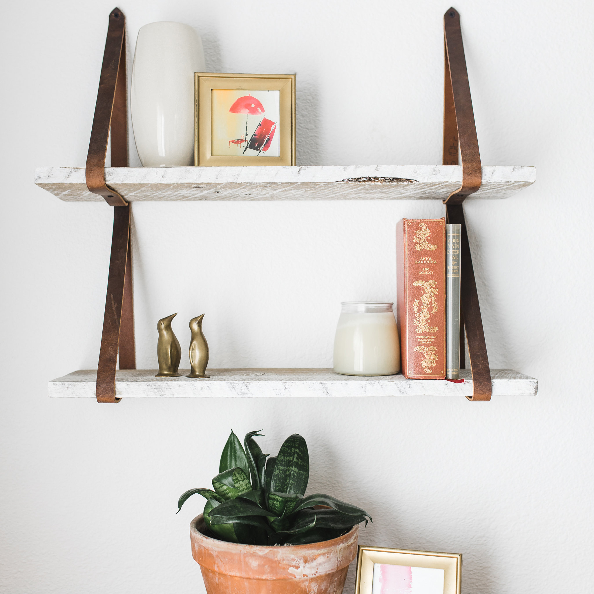 17 Stories Littleton Hanging 2 Piece Floating Shelf Set regarding Farm Metal Wall Rack And 3 Tin Pot With Hanger Wall Decor (Image 1 of 30)