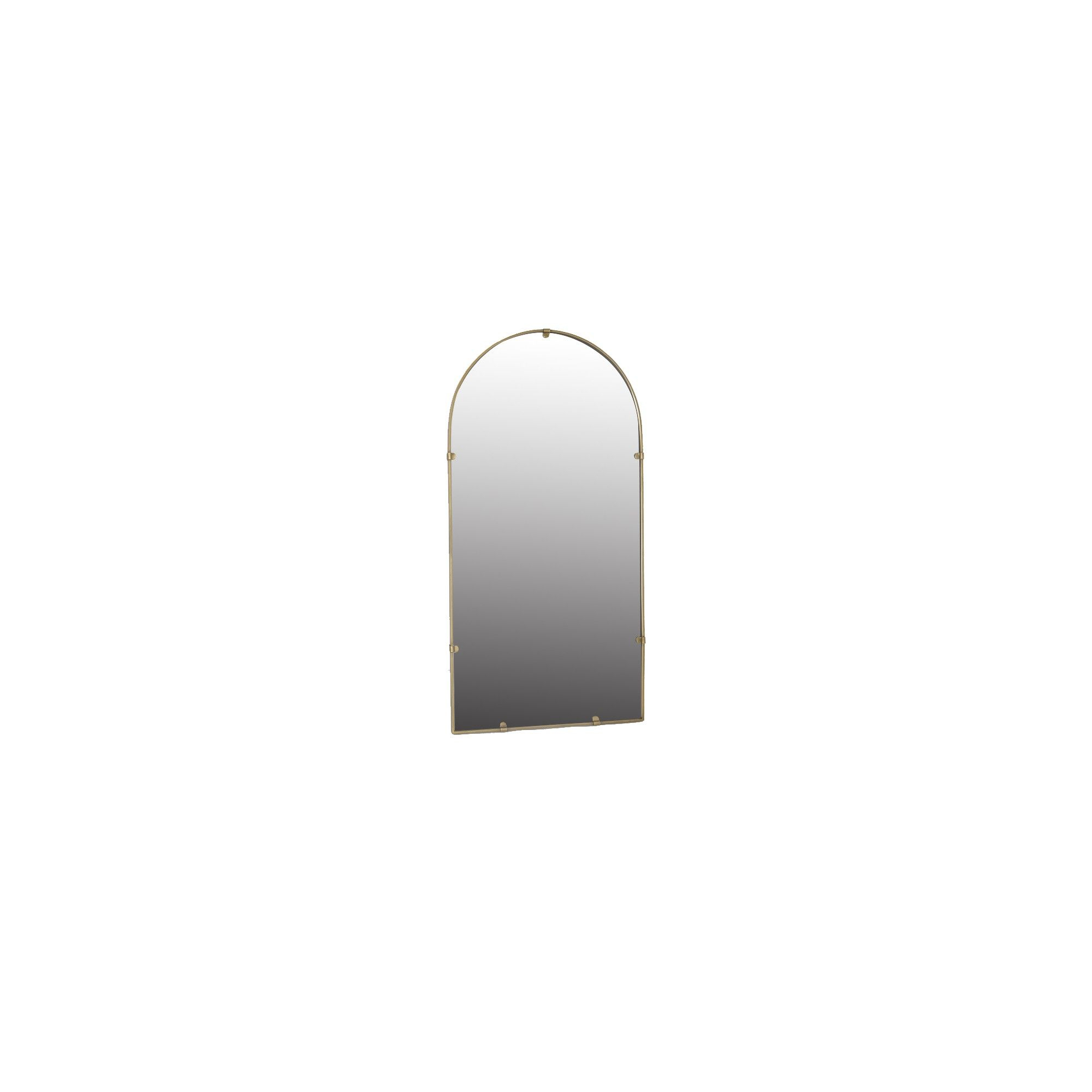 "18""x36"" Industrial Arc (Powder Coat) Decorative Wall Mirror Intended For Industrial Modern & Contemporary Wall Mirrors (View 2 of 30)"