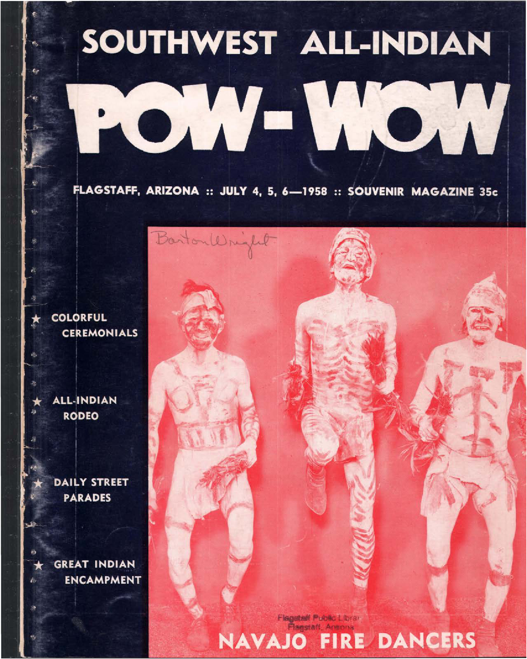 1958 Flagstaff All Indian Powwow Program – The History Of With Regard To Ammerman 1 Light Cone Pendants (Image 1 of 30)