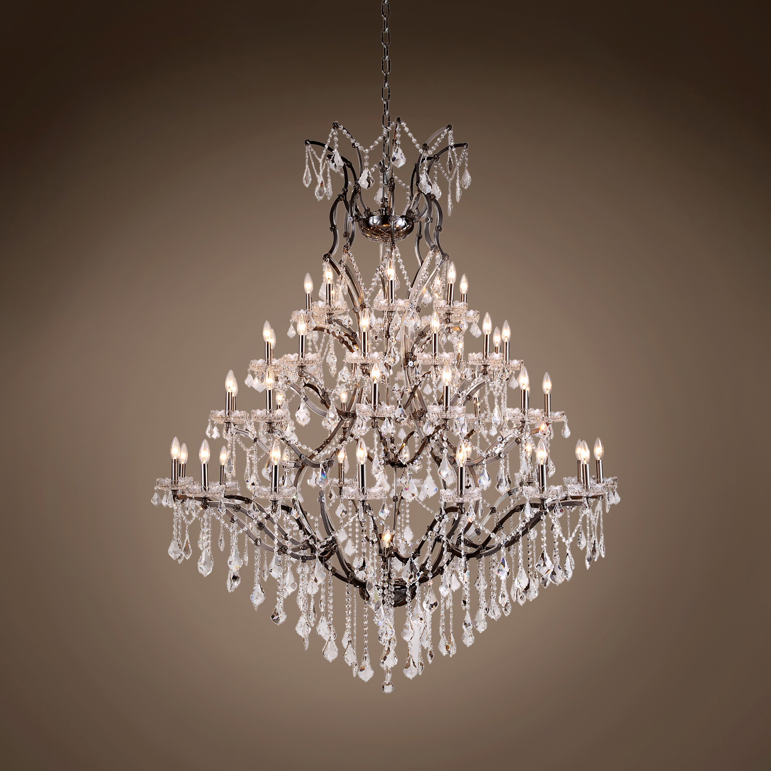 """19Th C. Rococo 49 Light 60"""" Crystal Chandelier Within Emaria 4 Light Unique / Statement Chandeliers (Gallery 25 of 30)"""