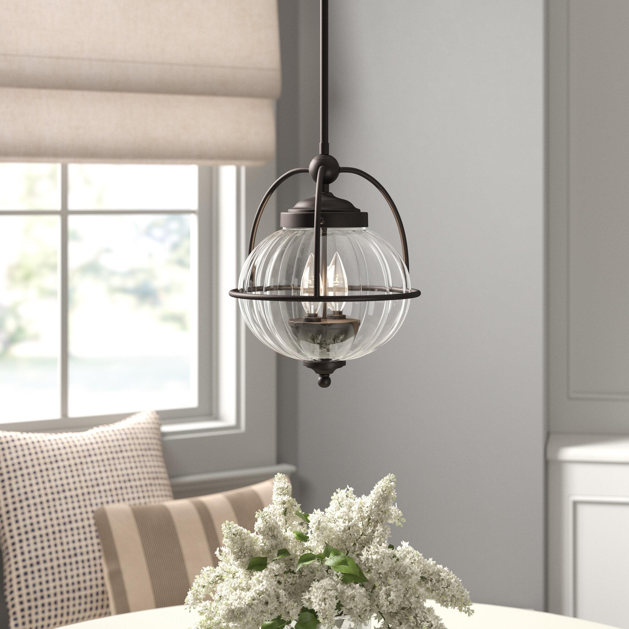 2 Light Single Globe Pendant Intended For Vernice 3 Light Cluster Bell Pendants (Photo 25 of 30)