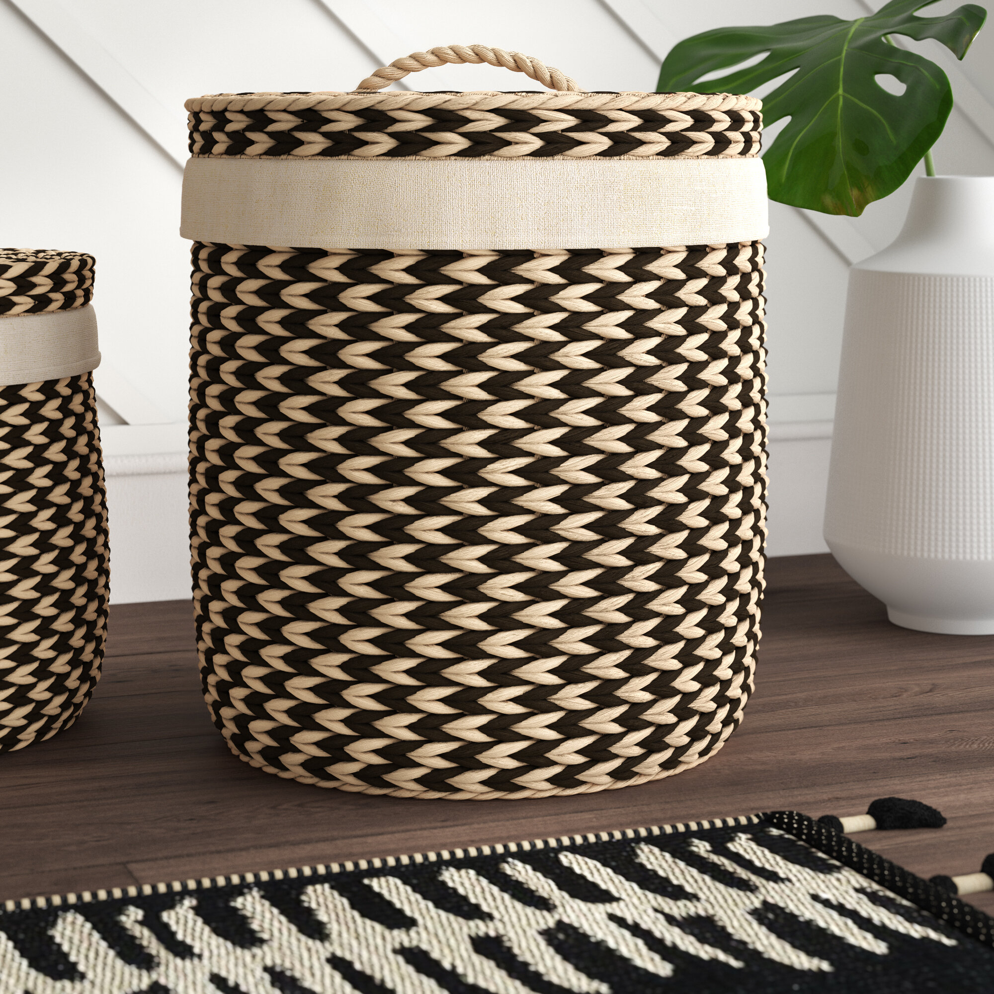 2 Piece Laundry Set In 4 Piece Handwoven Wheel Wall Decor Sets (Photo 25 of 30)