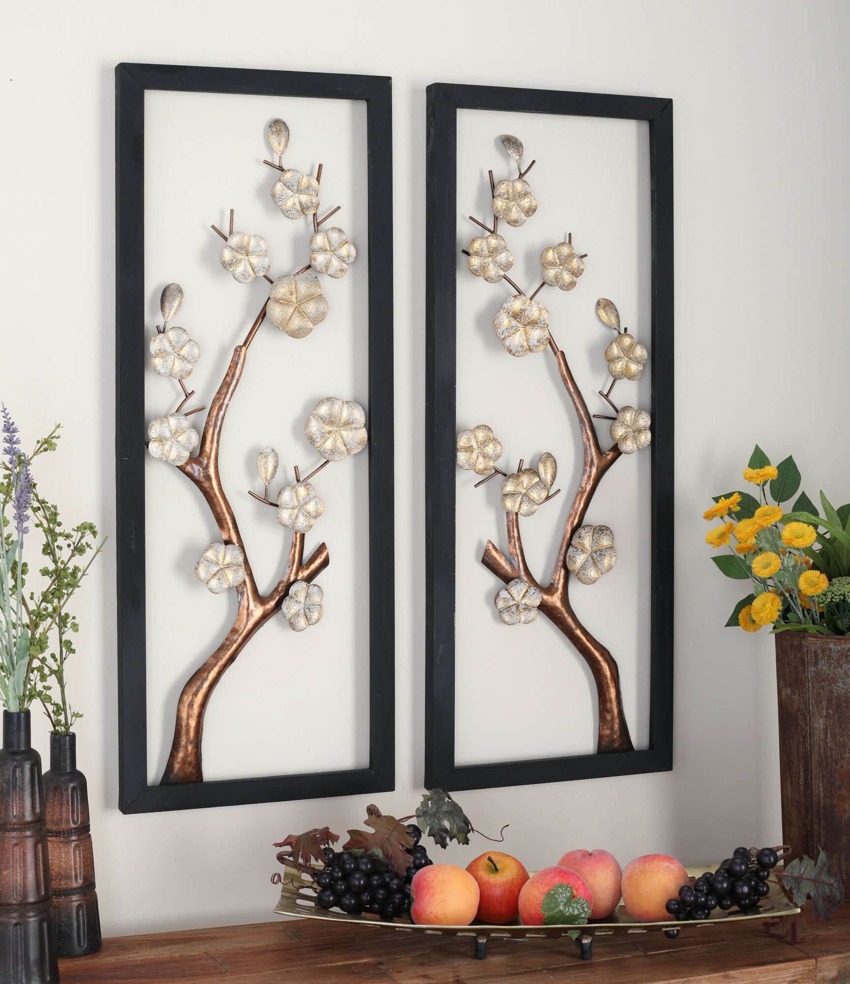 2 Piece Metal Wall Décor Set Throughout 4 Piece Wall Decor Sets By Charlton Home (Gallery 14 of 30)