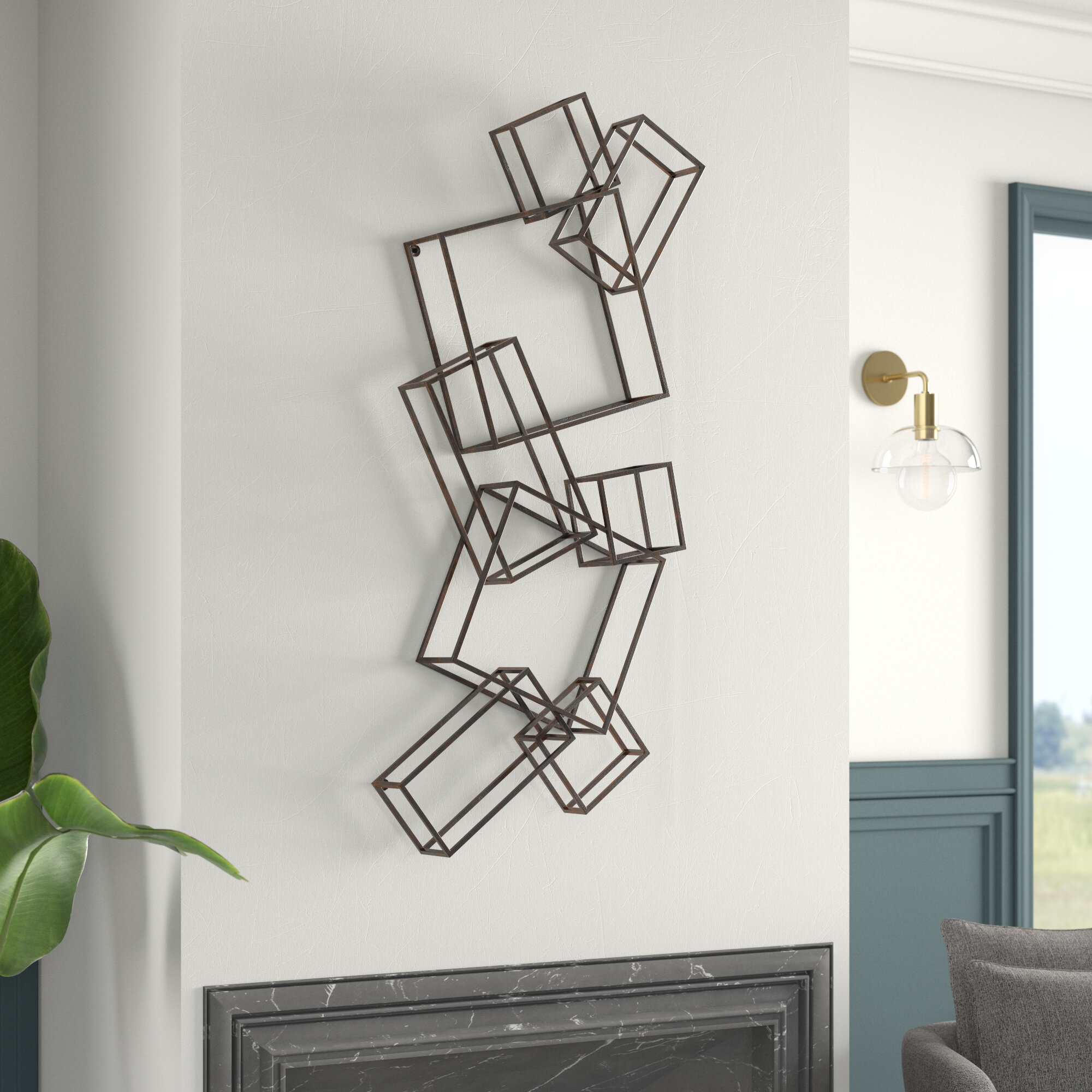 2 Piece Square Wall Décor Set With Rings Wall Decor By Wrought Studio (Photo 15 of 30)