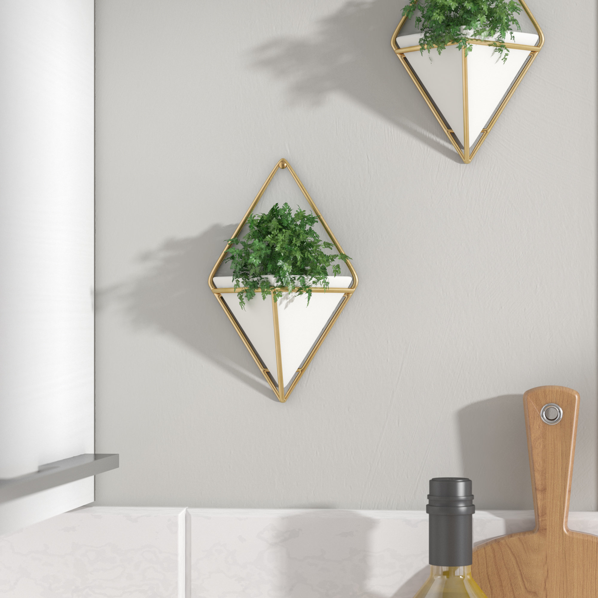 2 Piece Trigg Wall Décor Set Intended For Trigg Ceramic Planter Wall Decor (Photo 14 of 30)