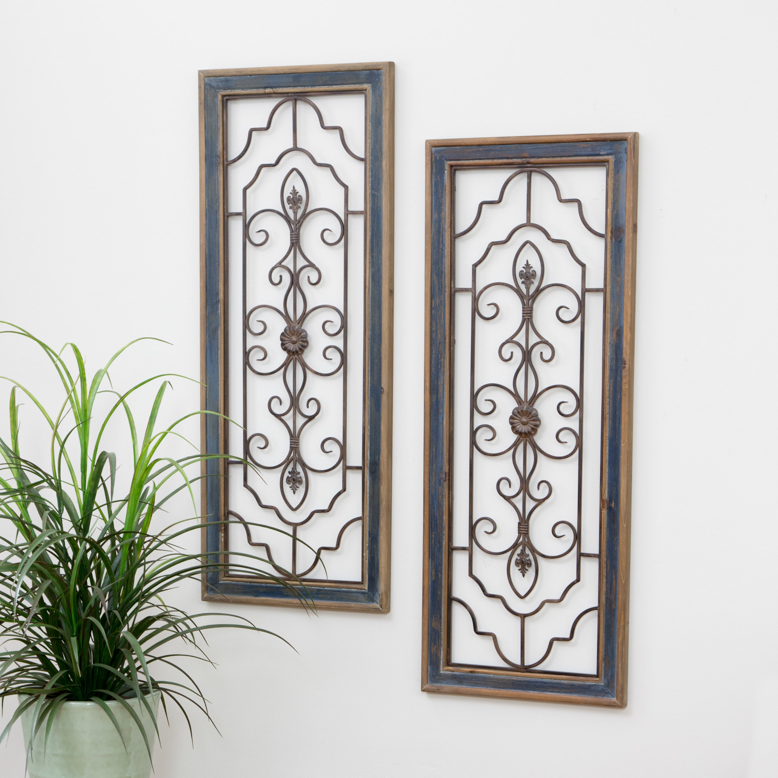 2 Piece Wall Decor Set | Wayfair Inside 4 Piece Metal Wall Plaque Decor Sets (View 10 of 30)