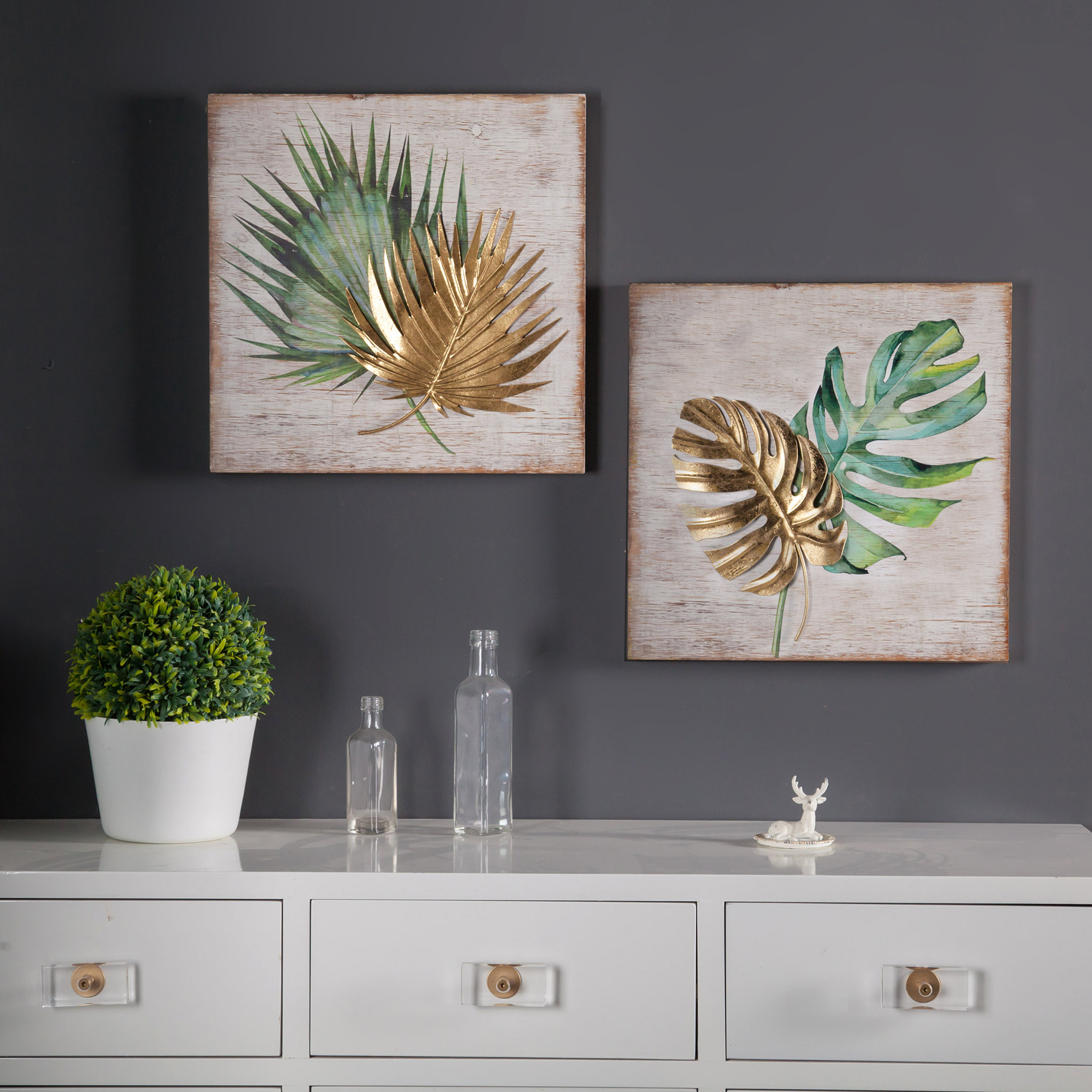 2 Piece Wall Decor Set | Wayfair throughout 2 Piece Trigg Wall Decor Sets (Set of 2) (Image 4 of 30)