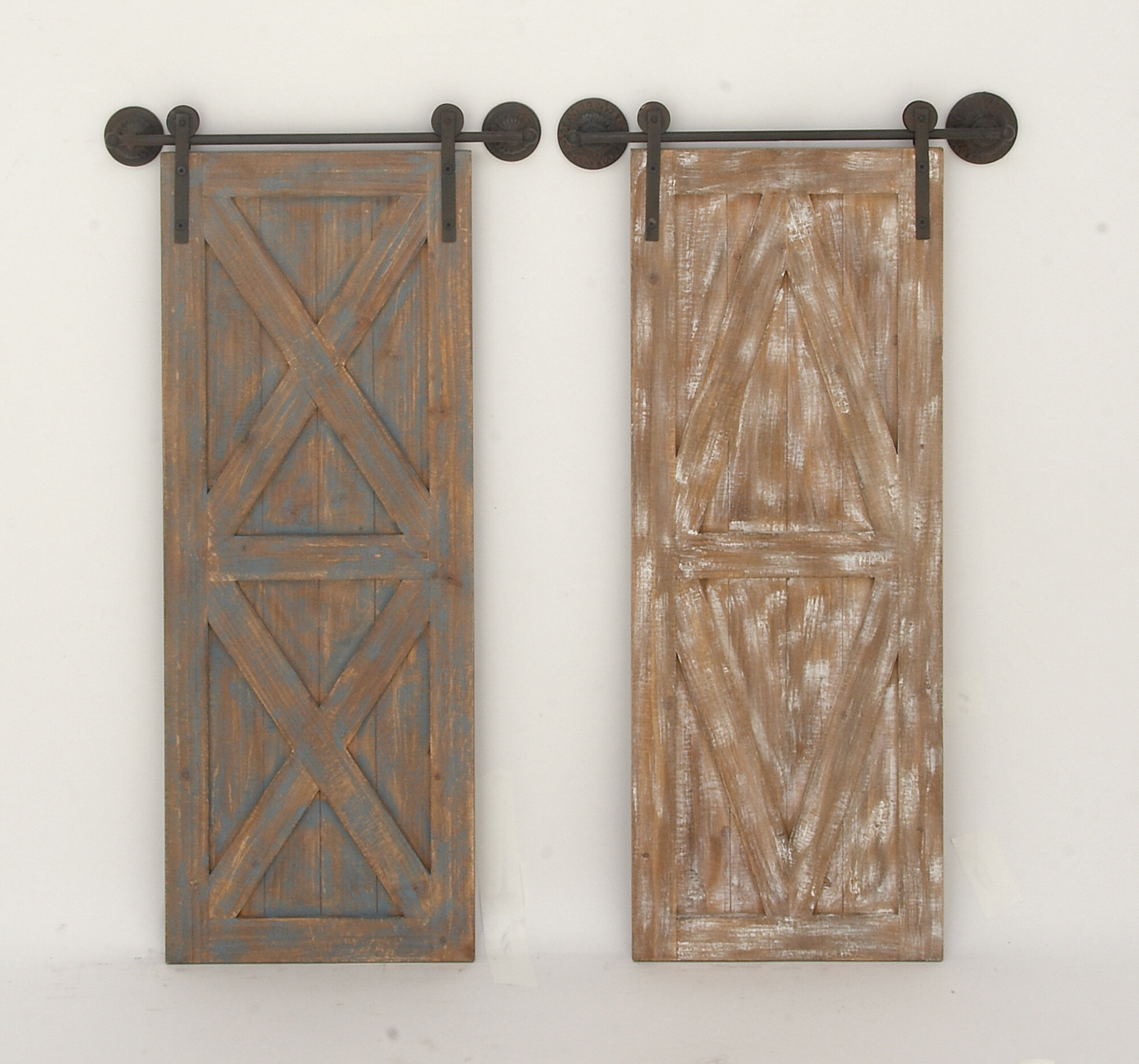 2 Piece Wood/metal Wall Décor with Brown Wood And Metal Wall Decor (Image 2 of 30)