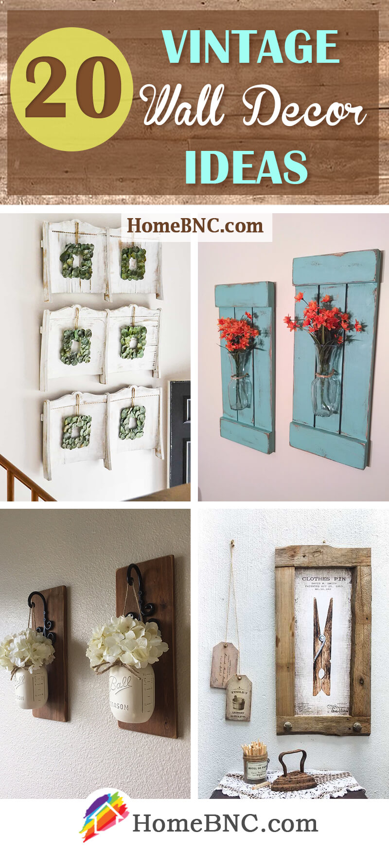 20 Best Vintage Wall Decor Ideas And Designs For 2019 Pertaining To 2 Piece Heart Shaped Fan Wall Decor Sets (Photo 15 of 30)