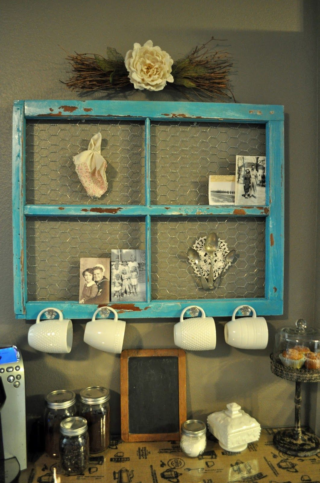 20 Different Ways To Use Old Window Frames | The Best with Old Rustic Barn Window Frame (Image 1 of 30)