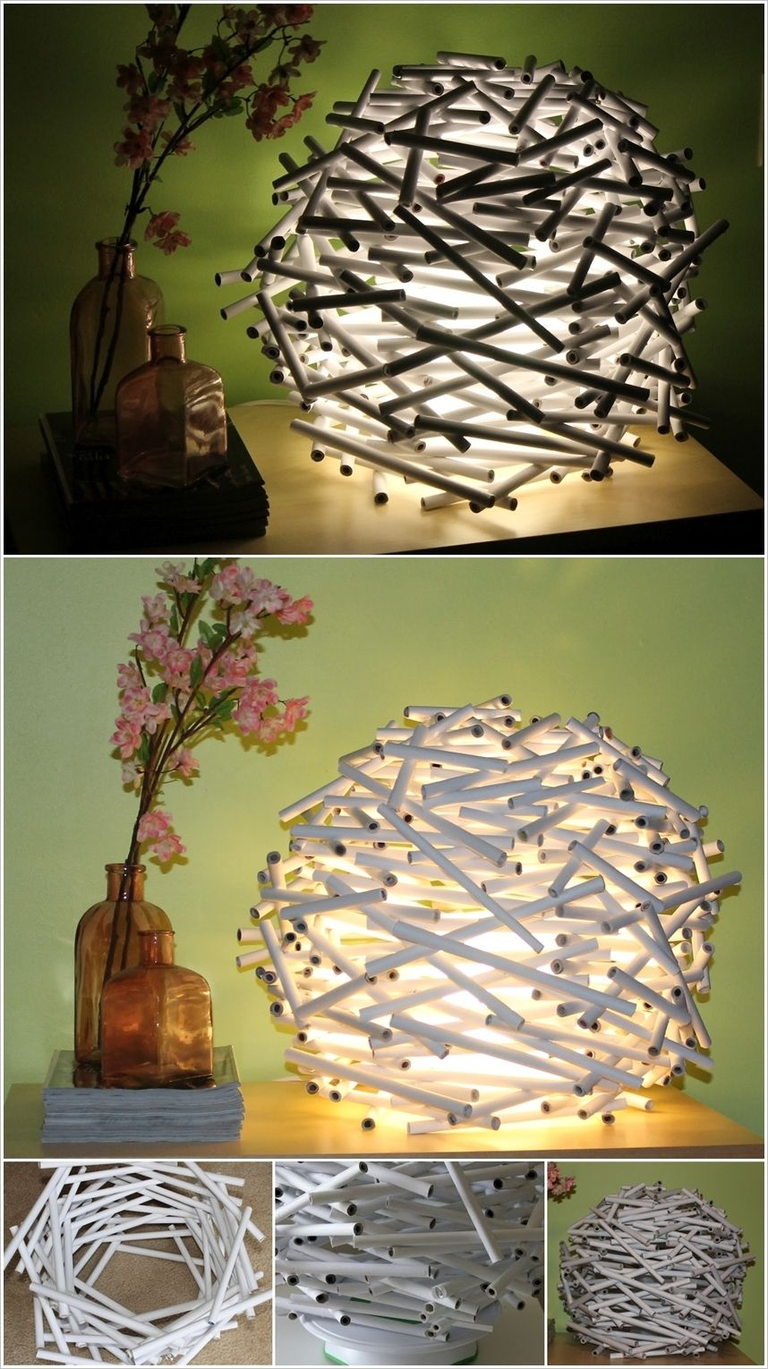 20 Diy Paper Lanterns And Lamps L Easy Paper Craft Ideas And Pertaining To Akash Industrial Vintage 1 Light Geometric Pendants (Photo 28 of 30)