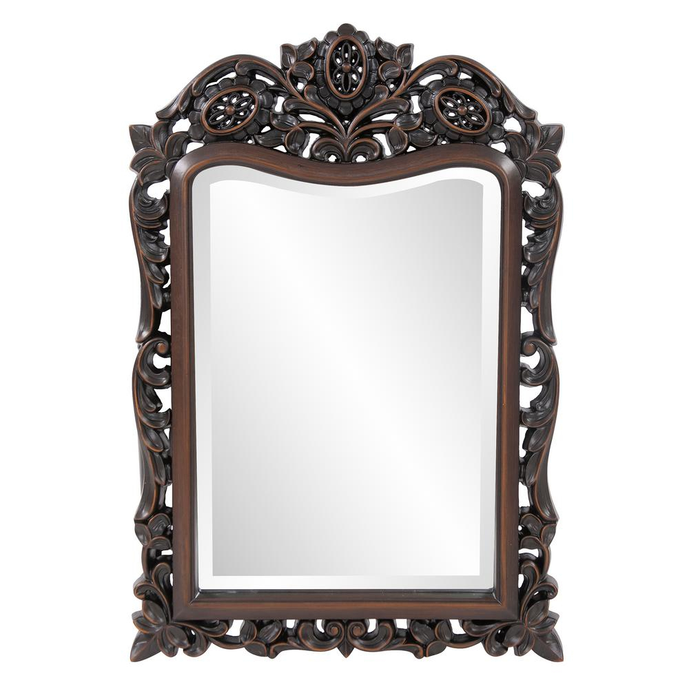 20 In. X 29 In. Traditional Framed Mirror In Brown 4085 Throughout Traditional Metal Wall Mirrors (Photo 30 of 30)