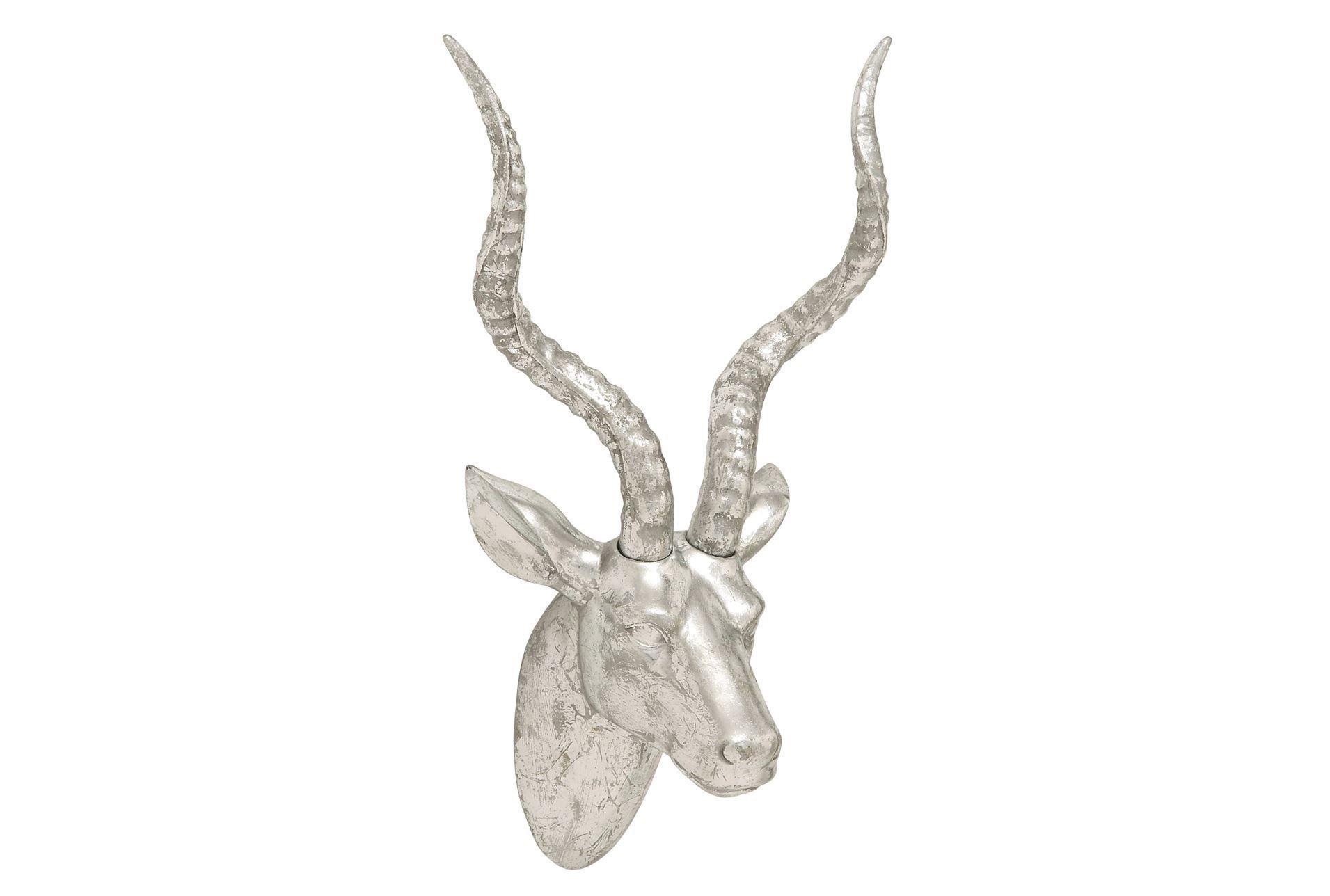 20 Inch Silver Gazelle Head | Design | Wall Decor, Decor Throughout Highlands Ranch The Templeton Wall Decor (Gallery 24 of 30)