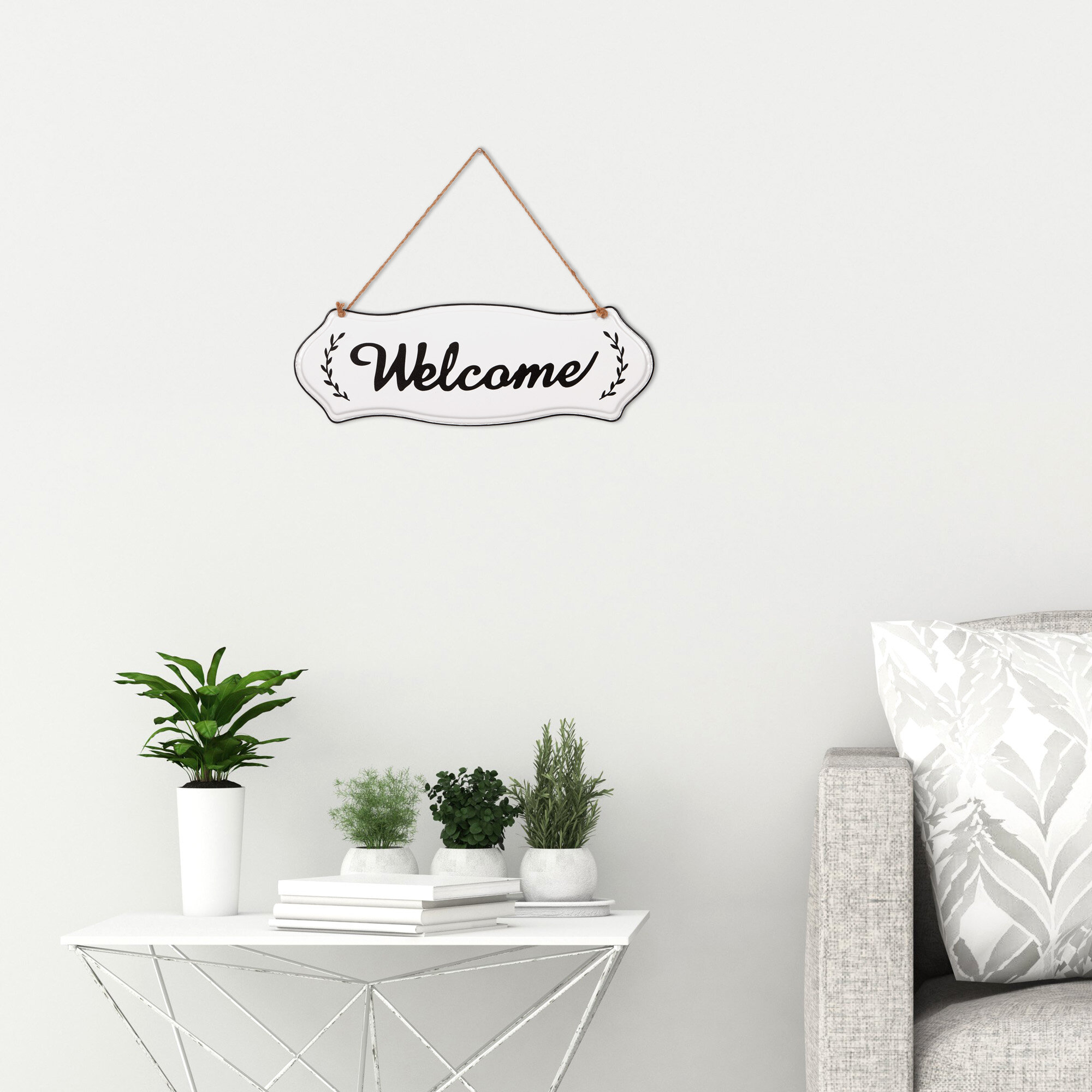 20 Inspirations Of Metal Rope Wall Sign Wall Decor Regarding Metal Rope Wall Sign Wall Decor (Photo 9 of 30)