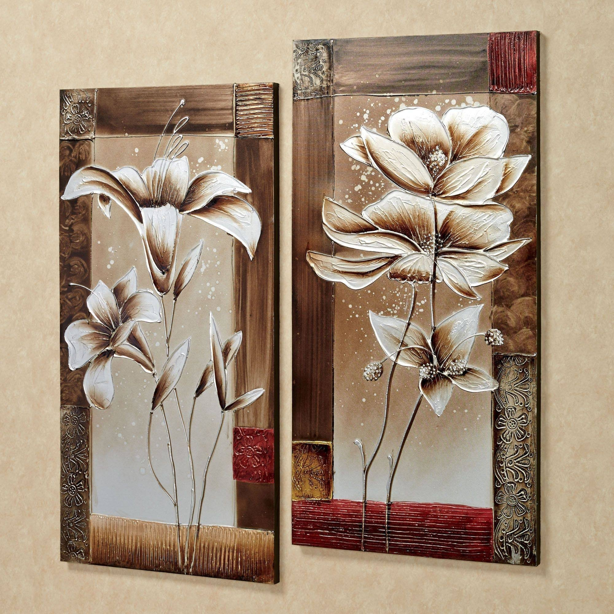 20 The Best Canvas Wall Art 3 Piece Sets Decorative Picture Within 4 Piece Metal Wall Plaque Decor Sets (View 21 of 30)