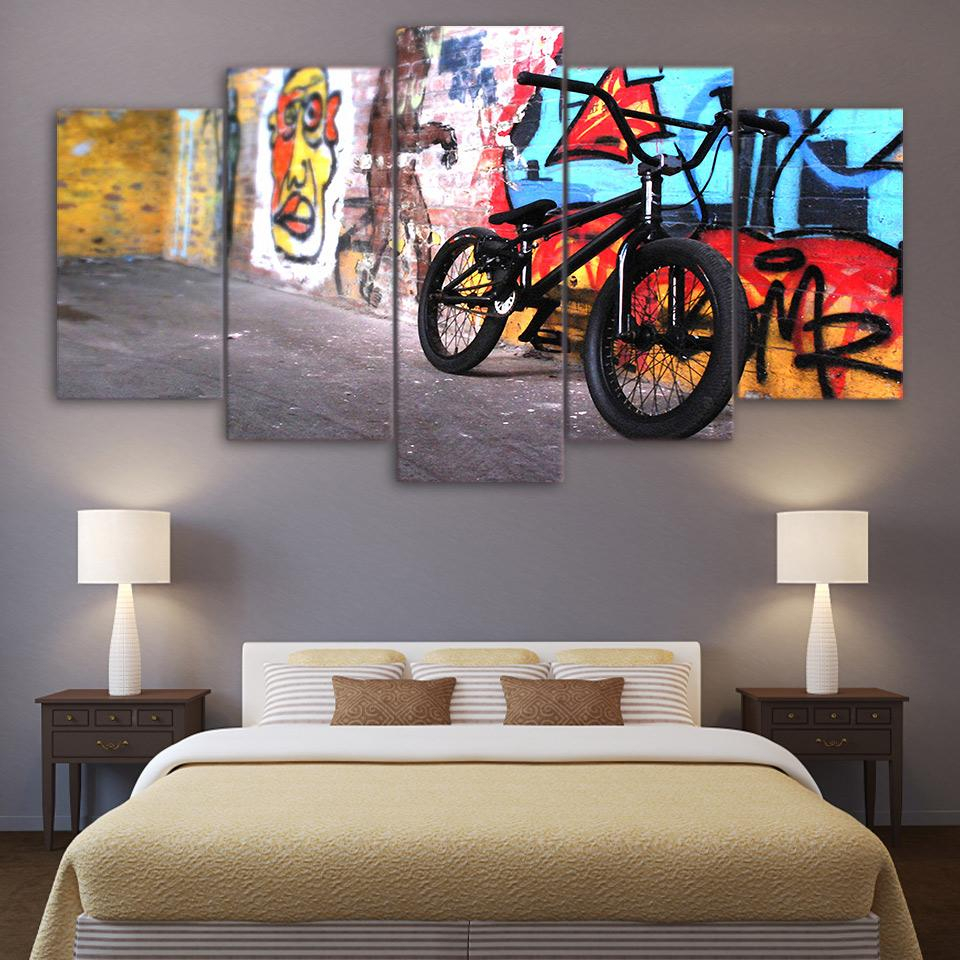 2019 Unframed Paintings Printed Abstract Bike Wall Art Canvas Pictures For Living Room Bedroom Modular Home Decor From Fashion_Wallart, $11.73 | Regarding Bike Wall Decor (Gallery 27 of 30)