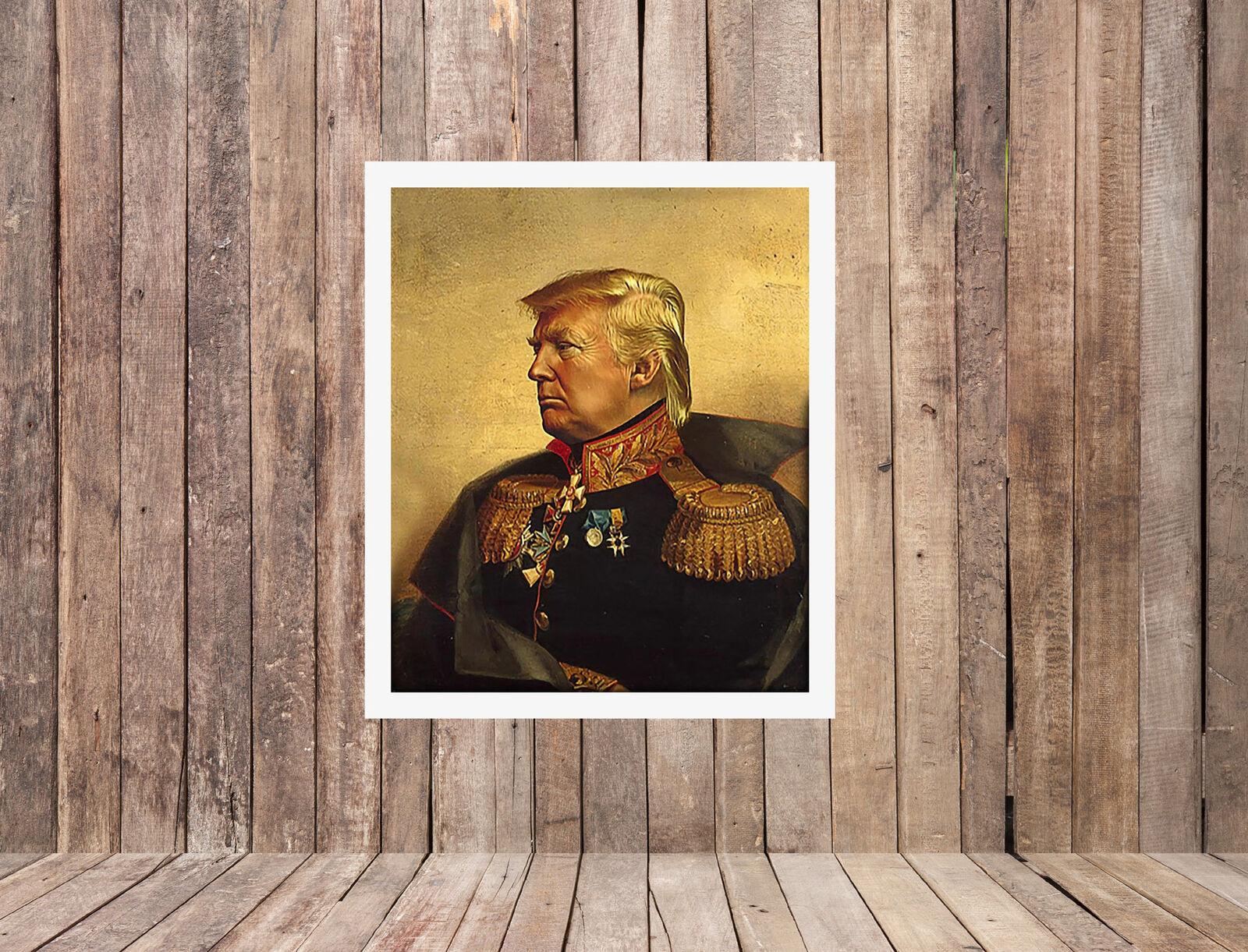 """20X25"""" Oil Painting Hd Print Donald Trump On Canvas Deco Wall Poster Pertaining To Wall Decor By World Menagerie (Gallery 30 of 30)"""