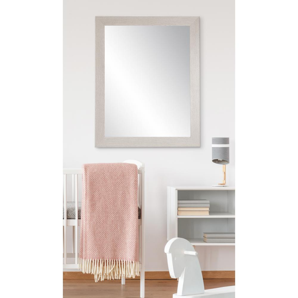21.5 In. X 32 In. Gray Wood Grain Accent Mirror Within Wood Accent Mirrors (Photo 13 of 30)