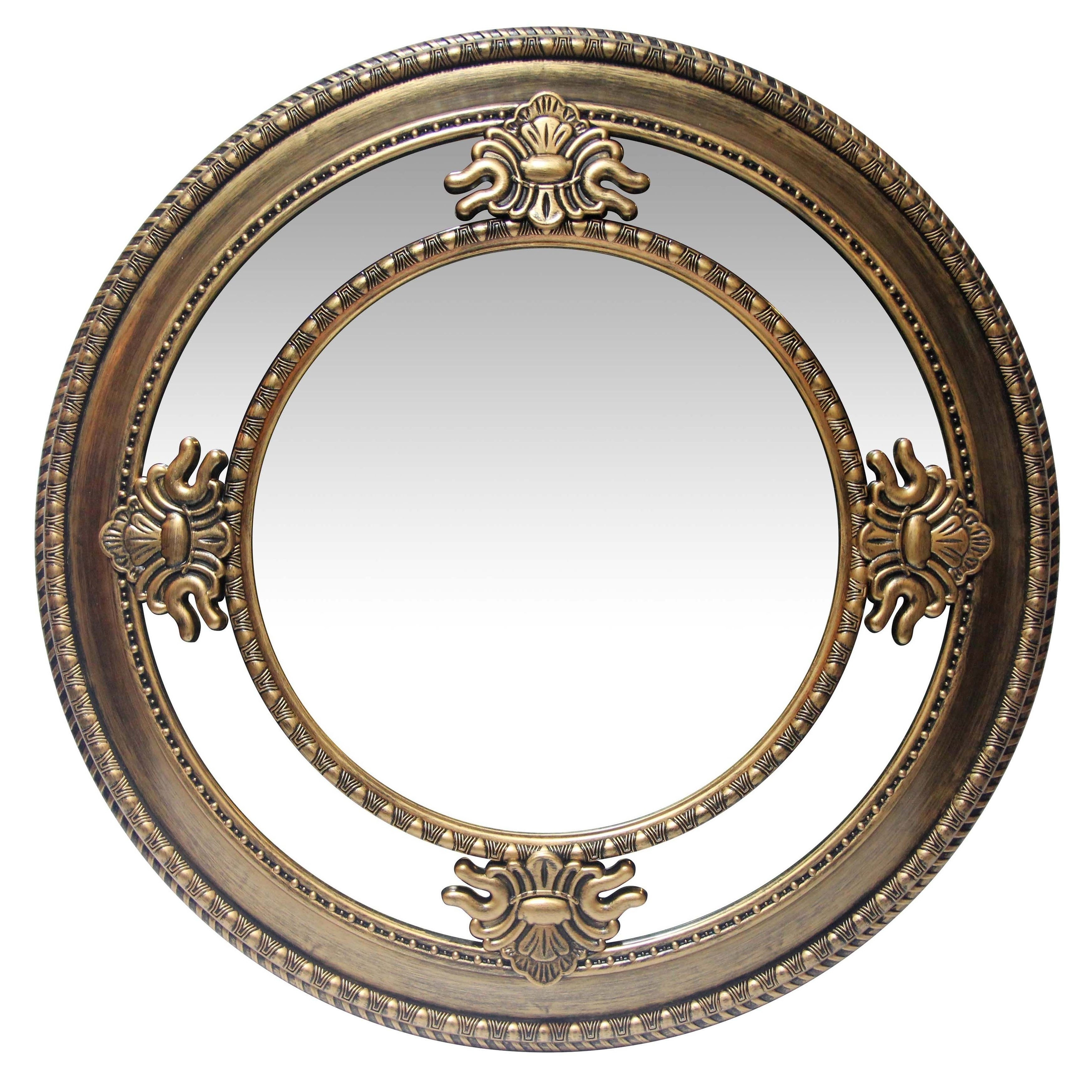 23 Inch Hand Brushed Wall Mirror Versaillesinfinity Instruments With Deniece Sunburst Round Wall Mirrors (View 1 of 30)