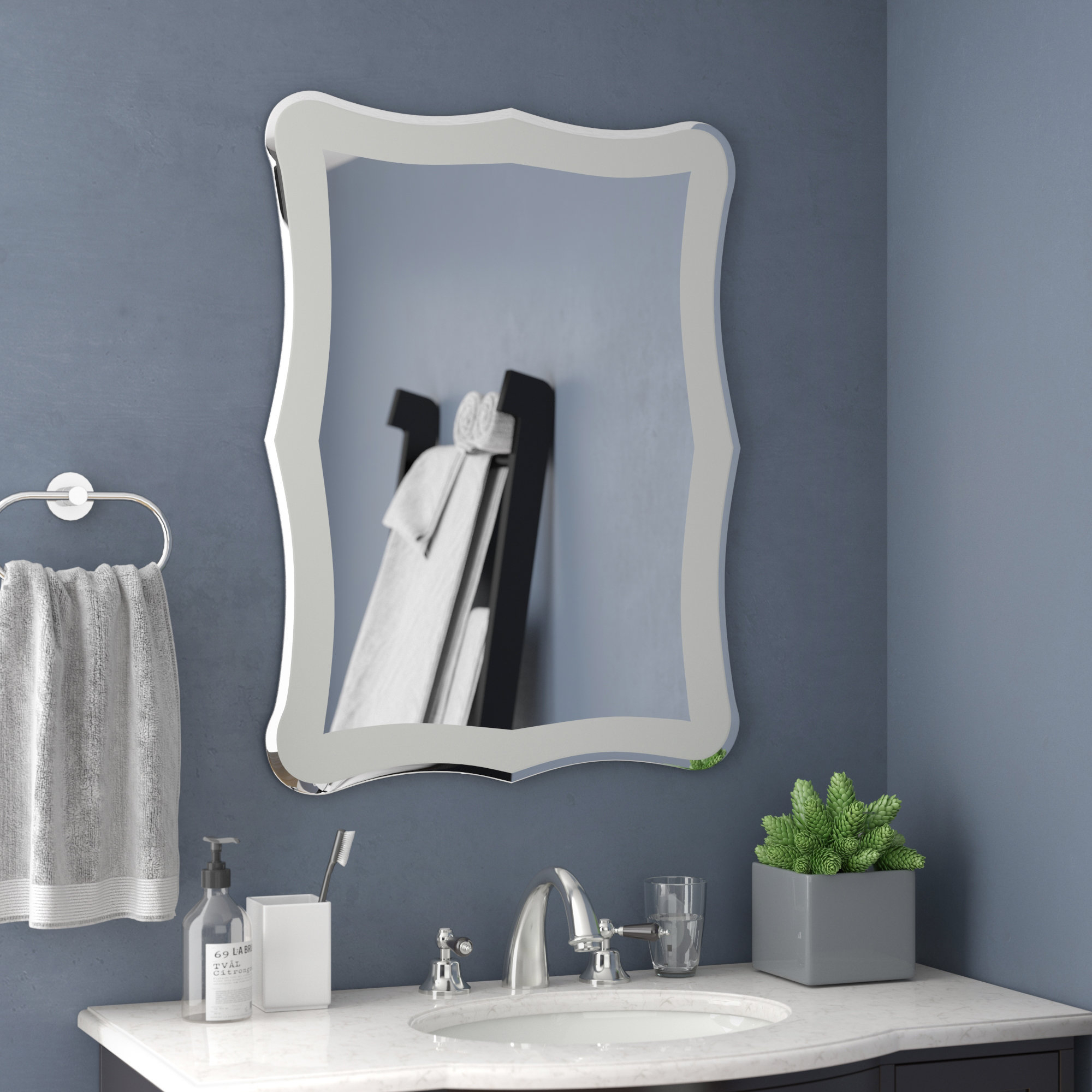 23 Inch Mirror | Wayfair intended for Estefania Frameless Wall Mirrors (Image 2 of 30)