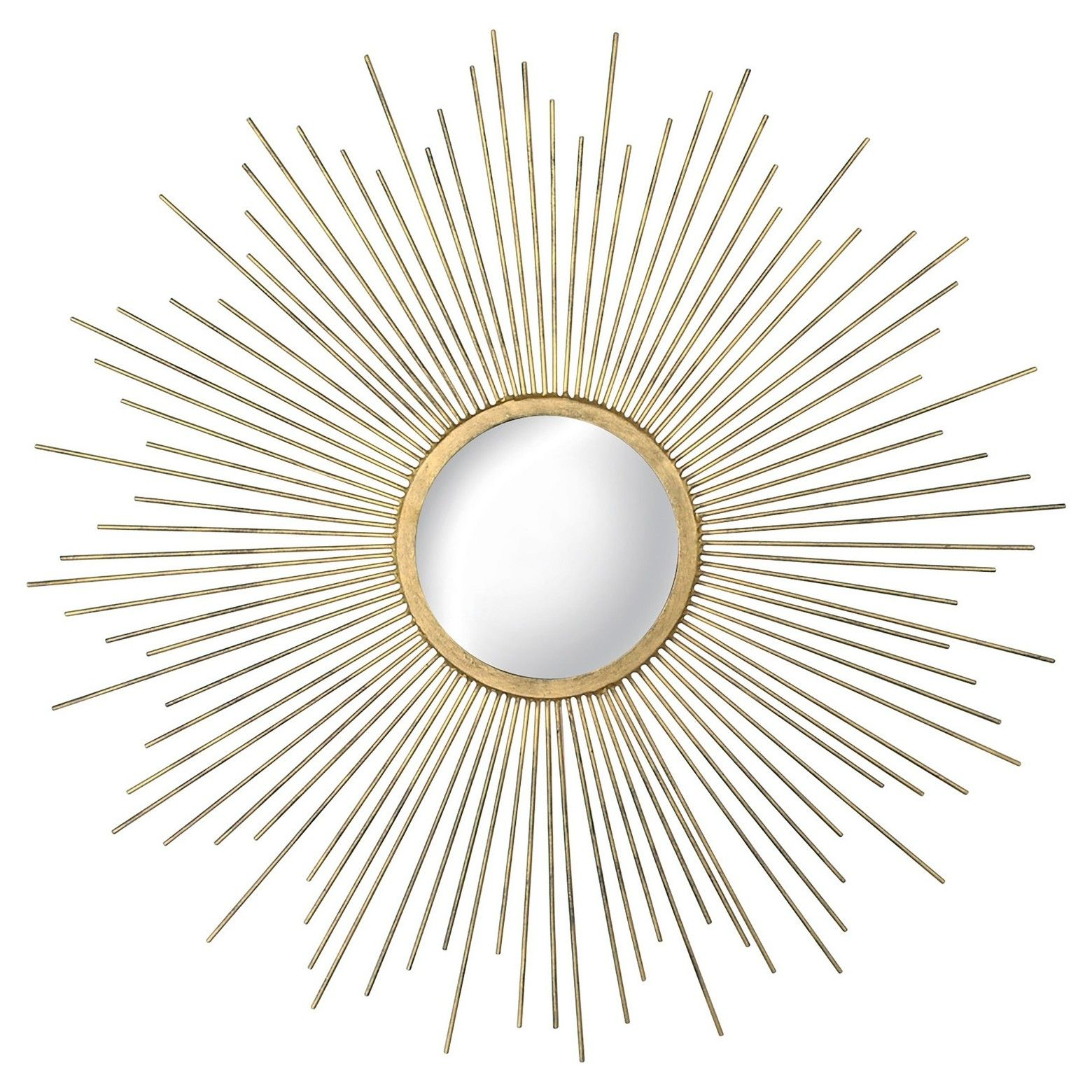 "23"" Sunburst Decorative Wall Mirror Metal Gold/silver For Jarrod Sunburst Accent Mirrors (View 26 of 30)"