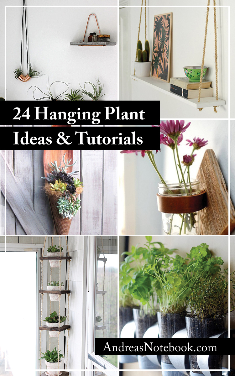 24 Ways To Hang Plants On The Wall – Andrea's Notebook In Floral Patterned Over The Door Wall Decor (Gallery 30 of 30)