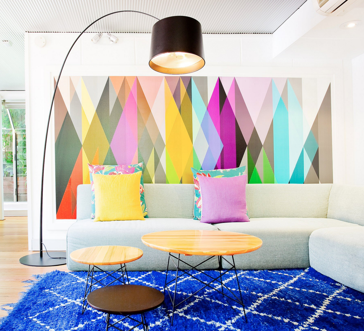25 Dazzling Geometric Walls For The Modern Home – Freshome With Regard To Contemporary Geometric Wall Decor (View 2 of 30)