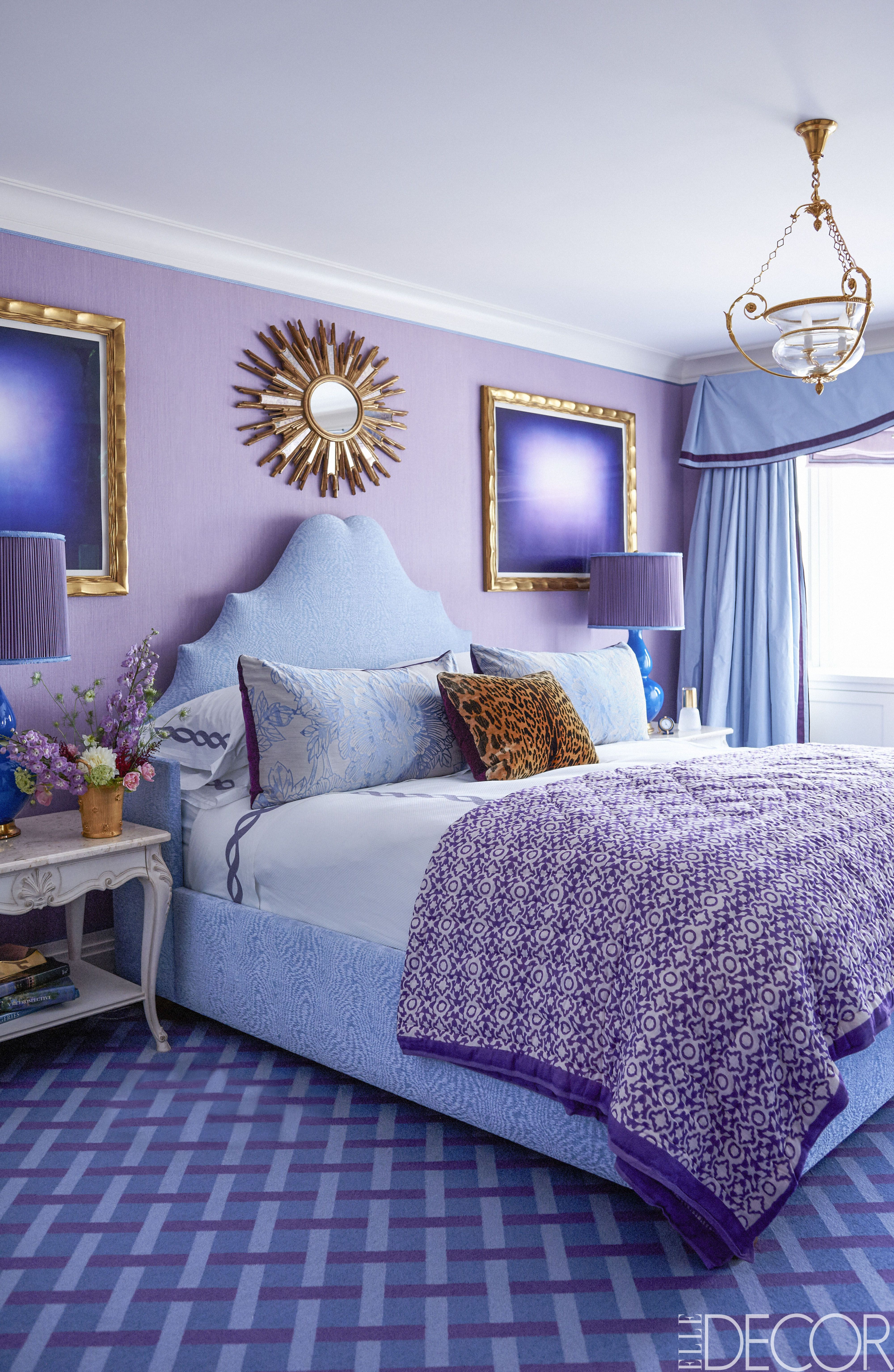 25 Purple Room Decorating Ideas - How To Use Purple Walls throughout Alvis Traditional Metal Wall Decor (Image 1 of 30)