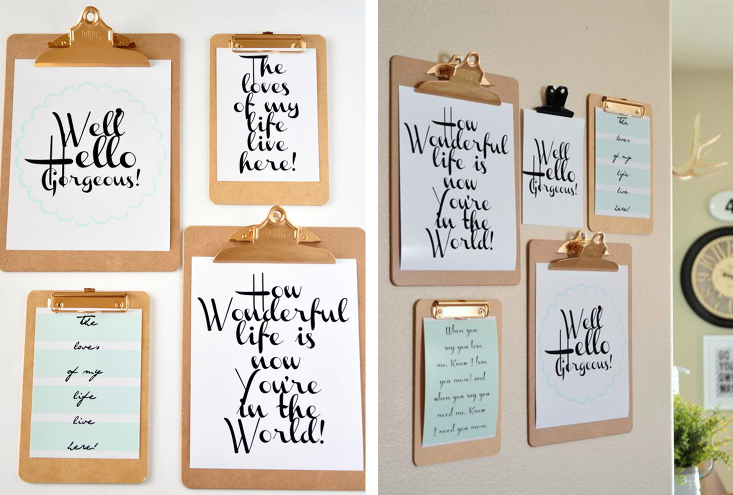"25 Unique Diy Wall Art Ideas (With Printables) | Shutterfly With In A Word ""welcome"" Wall Decor (Photo 12 of 30)"