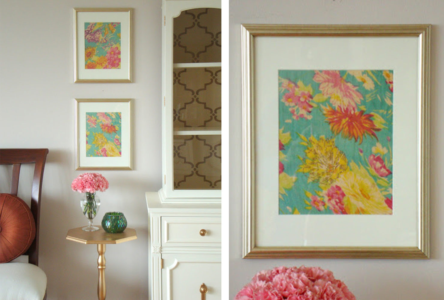 25 Unique Diy Wall Art Ideas (With Printables) | Shutterfly With Regard To Floral Wreath Wood Framed Wall Decor (Gallery 21 of 30)