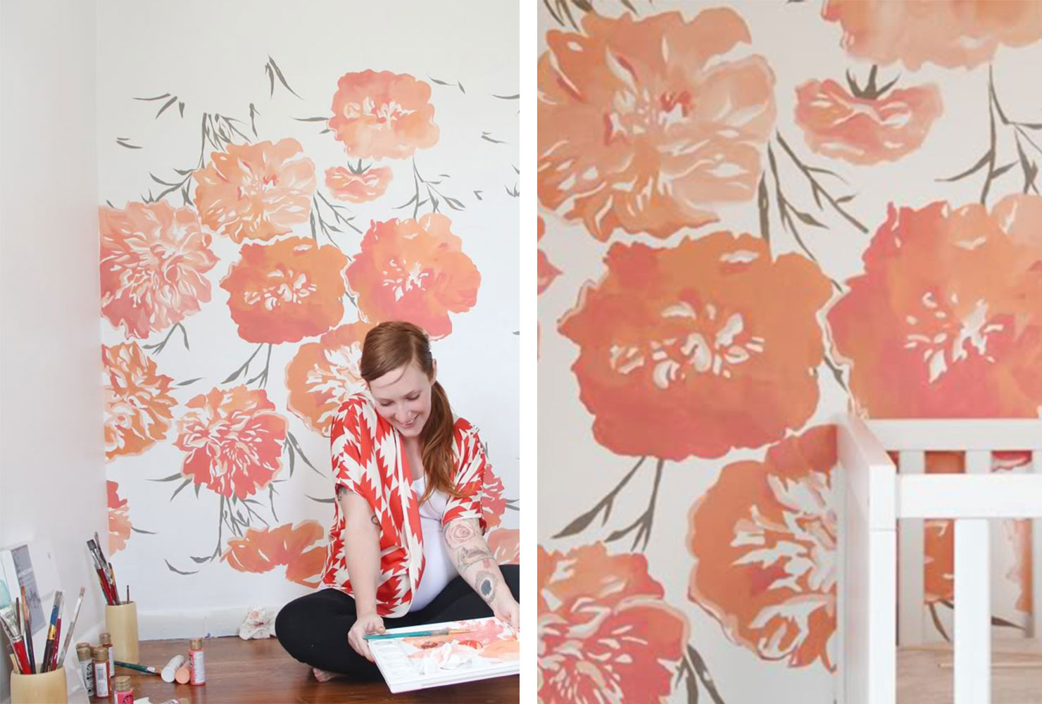 25 Unique Diy Wall Art Ideas (With Printables) | Shutterfly Within Floral Patterned Over The Door Wall Decor (Photo 24 of 30)