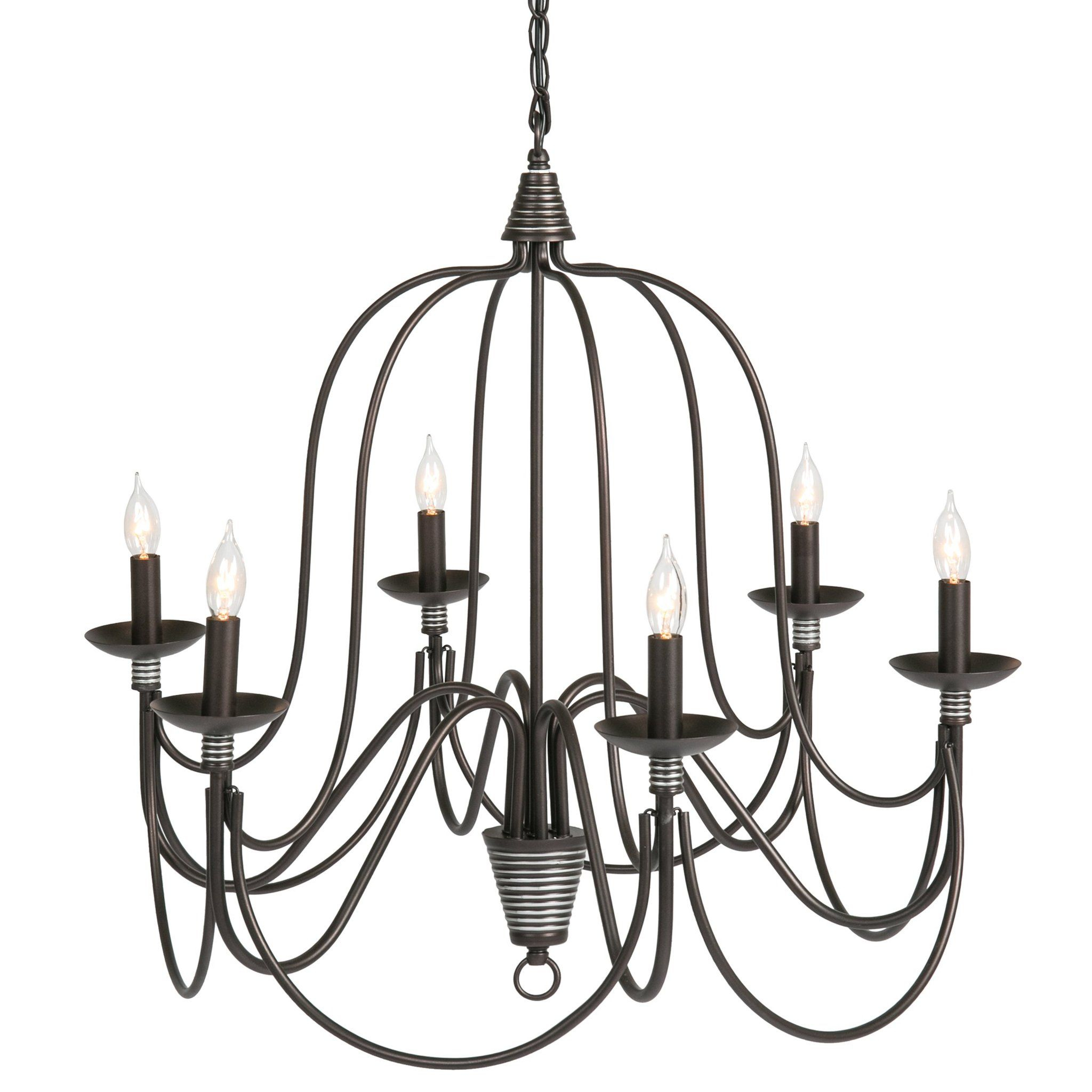 25In 6 Light Candle Chandelier Lighting Fixture W/ 41In Regarding Perseus 6 Light Candle Style Chandeliers (Gallery 13 of 30)