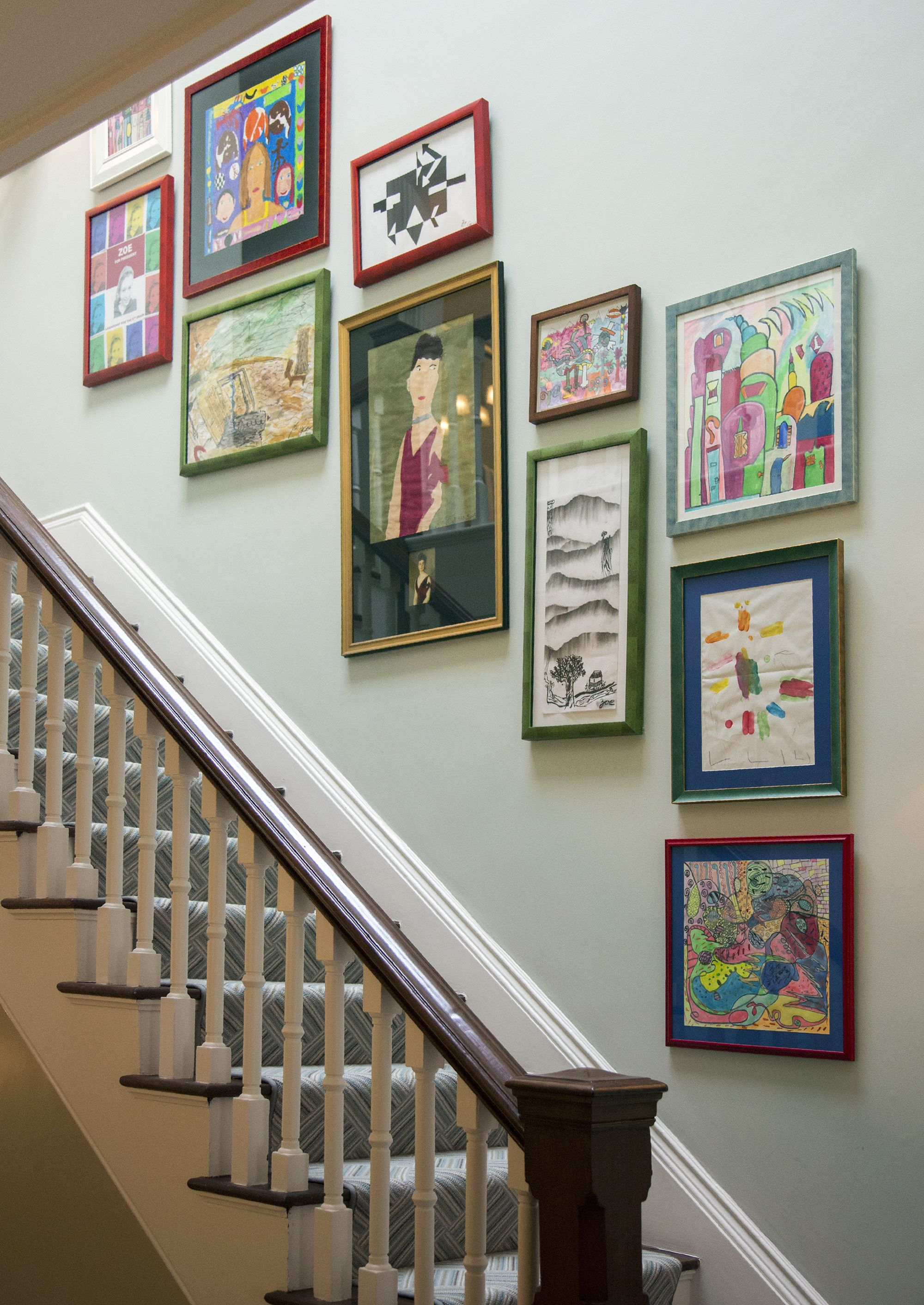 27 Stylish Staircase Decorating Ideas - How To Decorate in Landing Art Wall Decor (Image 2 of 30)