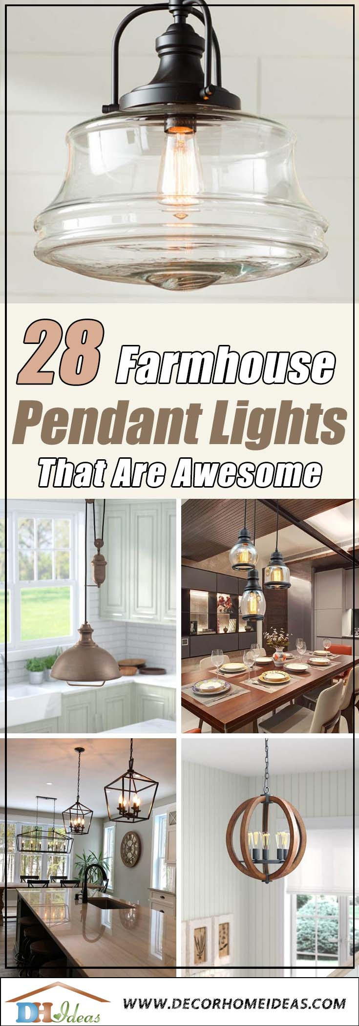 28 Best Farmhouse Pendant Lights You'll Love Pertaining To Nadine 1 Light Single Schoolhouse Pendants (Photo 21 of 30)