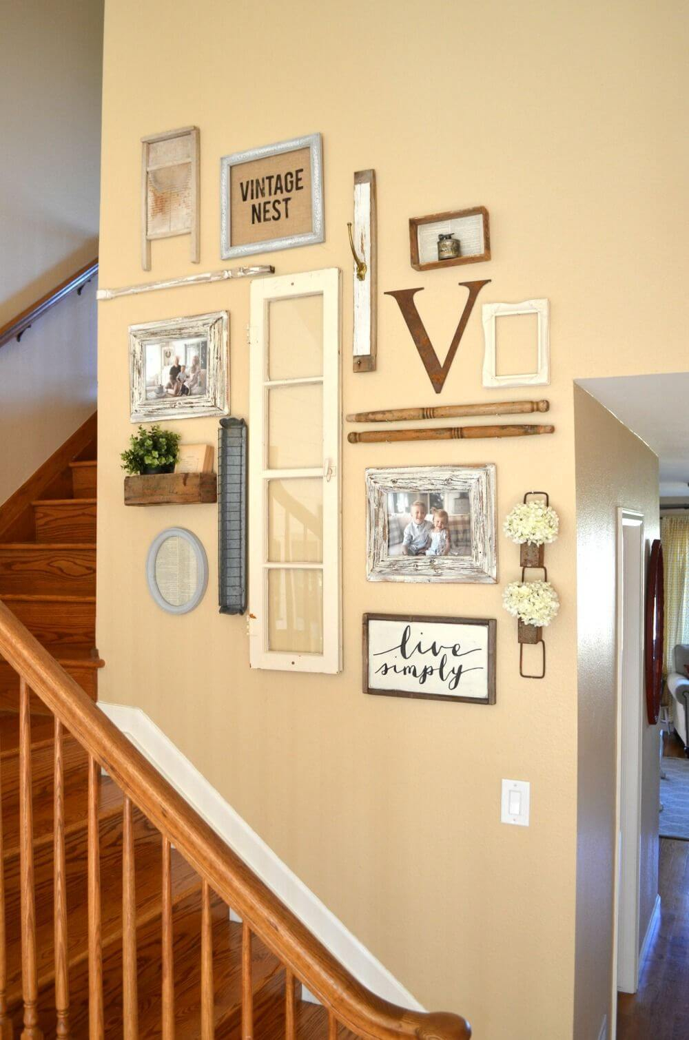 28 Best Stairway Decorating Ideas And Designs For 2019 Throughout Landing Art Wall Decor (View 22 of 30)