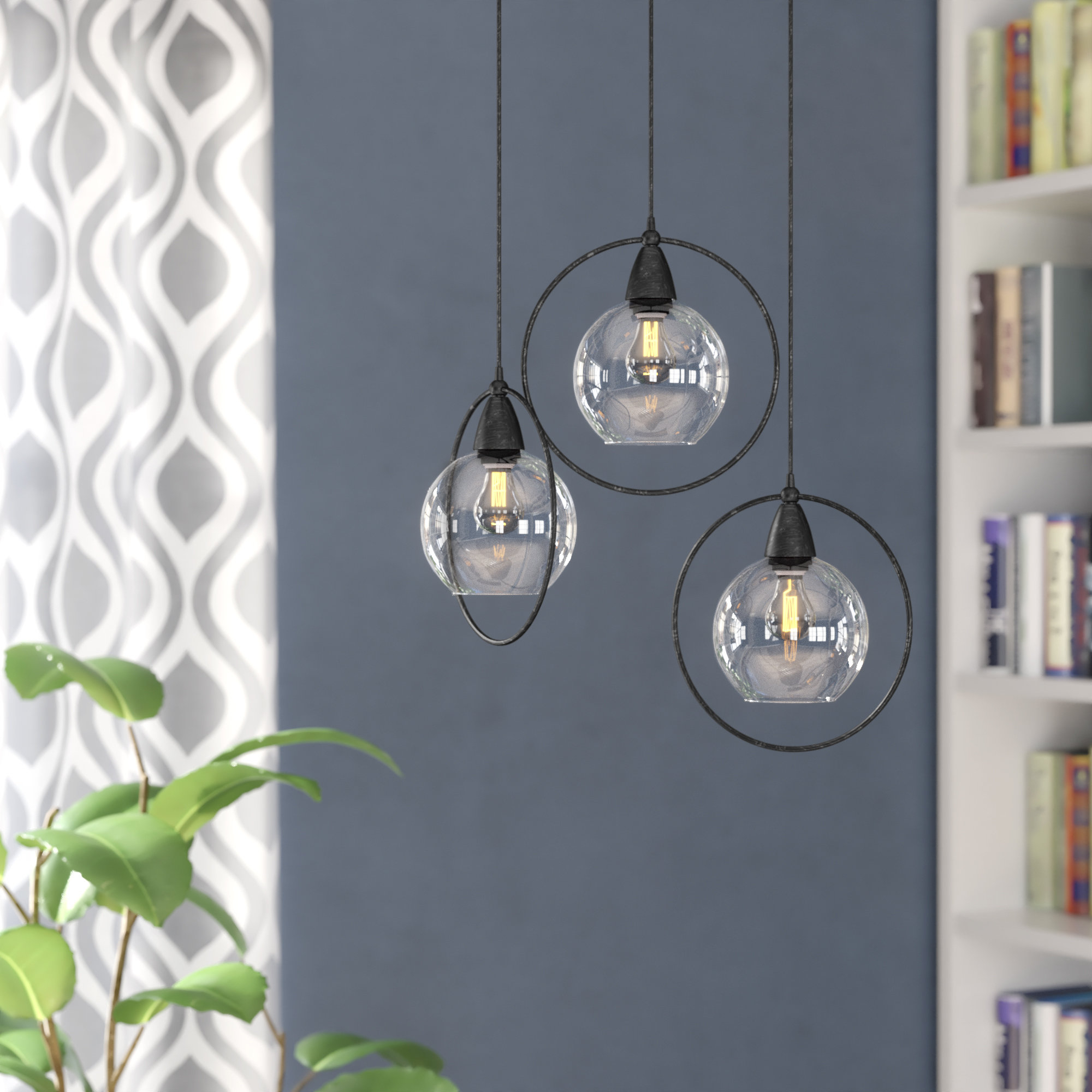3 Light Cluster Pendant Lighting You'll Love In 2019 | Wayfair With Regard To Gattilier 3 Light Cluster Pendants (View 5 of 30)