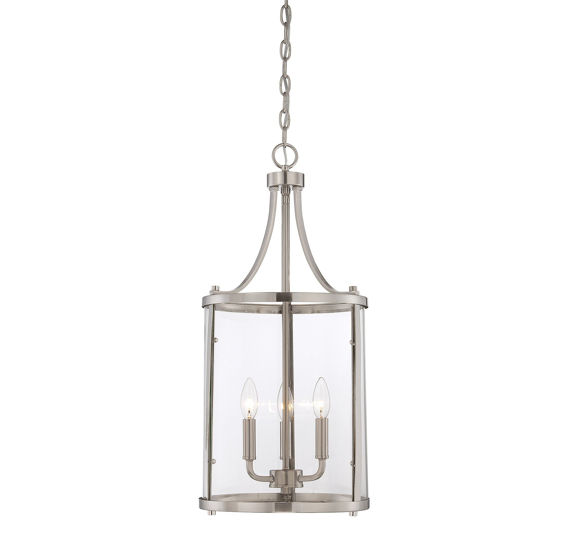 3 Light Lantern Cylinder Pendant Regarding Gabriella 3 Light Lantern Chandeliers (View 14 of 30)