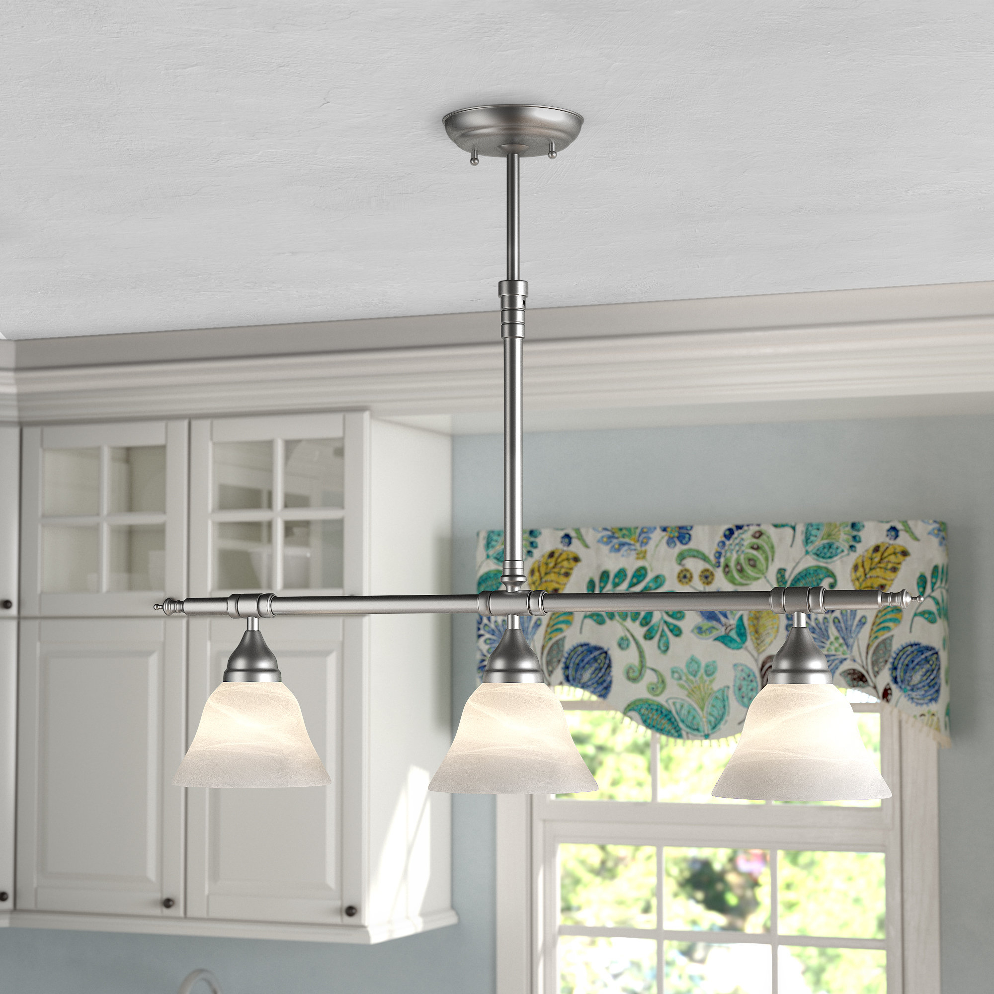 3 Light Pewter & Silver Island Lights You'll Love In 2019 Inside Ariel 3 Light Kitchen Island Dome Pendants (Image 1 of 30)