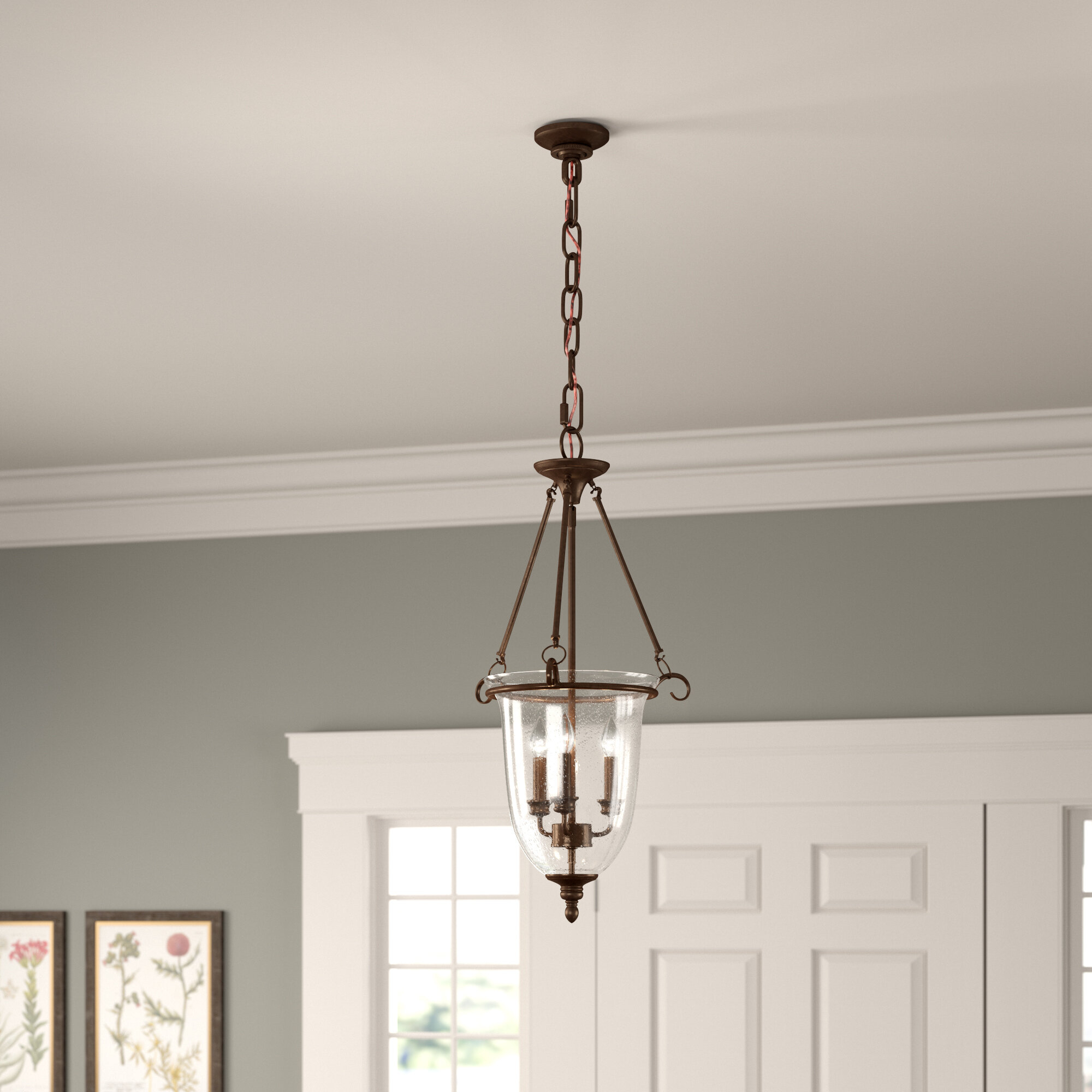 3-Light Single Urn Pendant regarding 3-Light Single Urn Pendants (Image 3 of 30)
