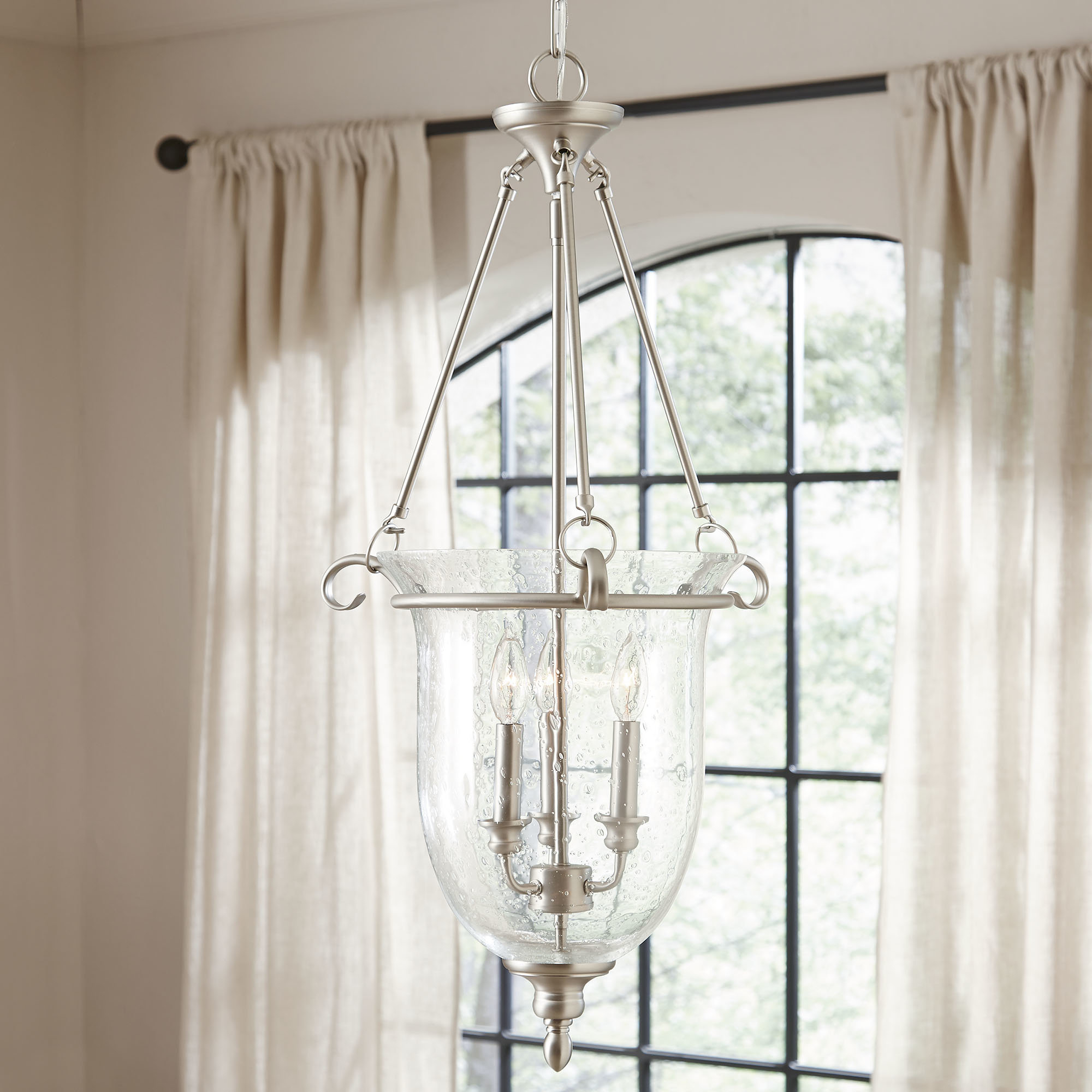 3 Light Single Urn Pendant Within Rockland 4 Light Geometric Pendants (View 22 of 30)