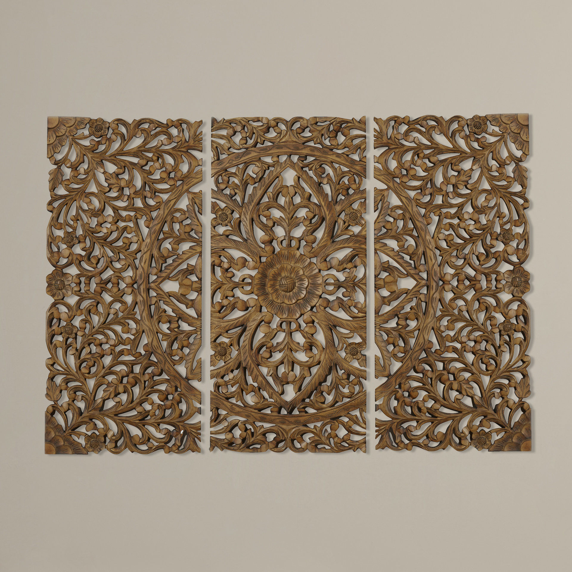 3 Panel Wall Decor | Wayfair with regard to 3 Piece Magnolia Brown Panel Wall Decor Sets (Image 1 of 30)