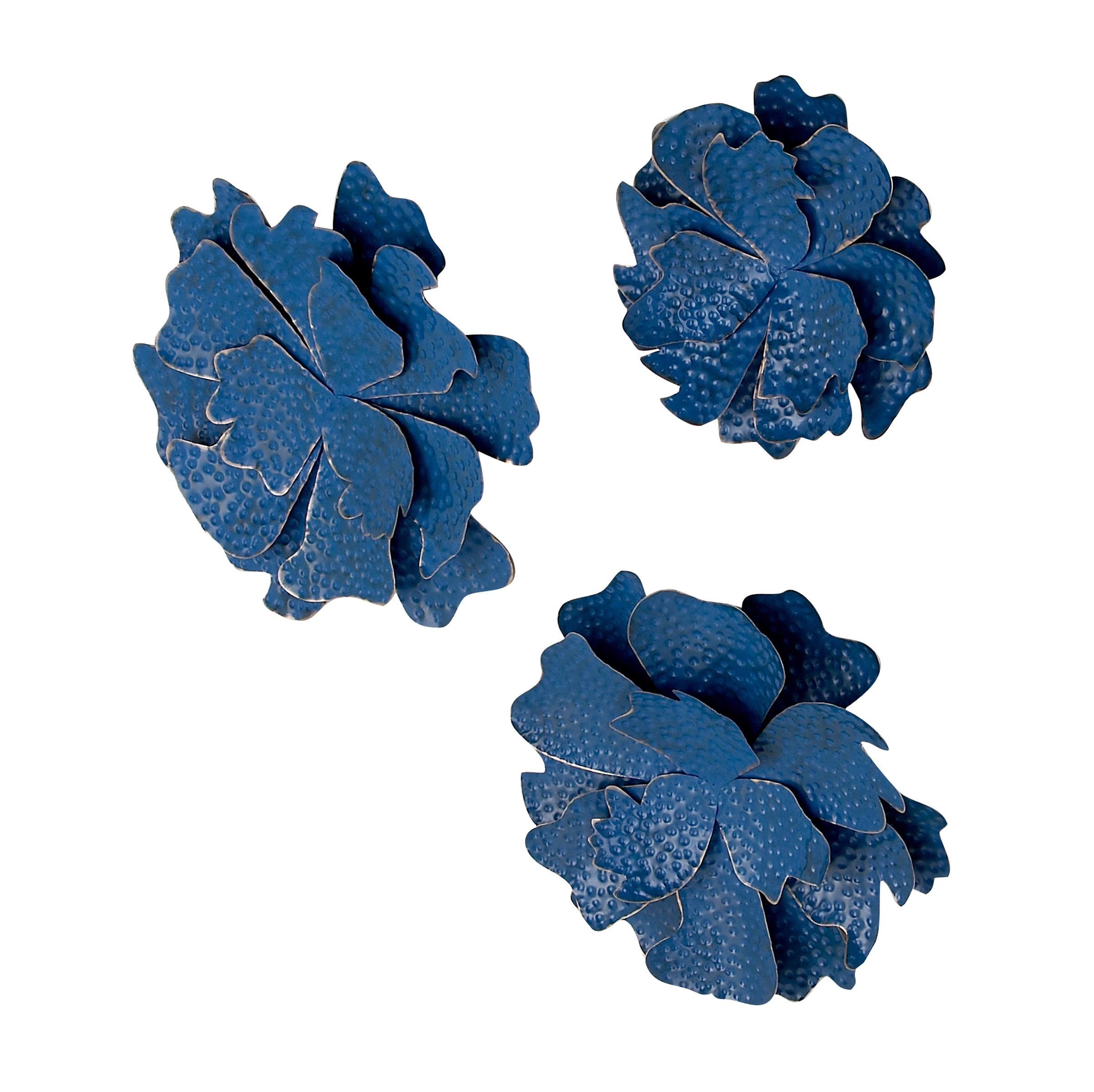 3 Piece Flowers Wall Decor Set | Wayfair Intended For 3 Piece Wash, Brush, Comb Wall Decor Sets (set Of 3) (View 23 of 30)
