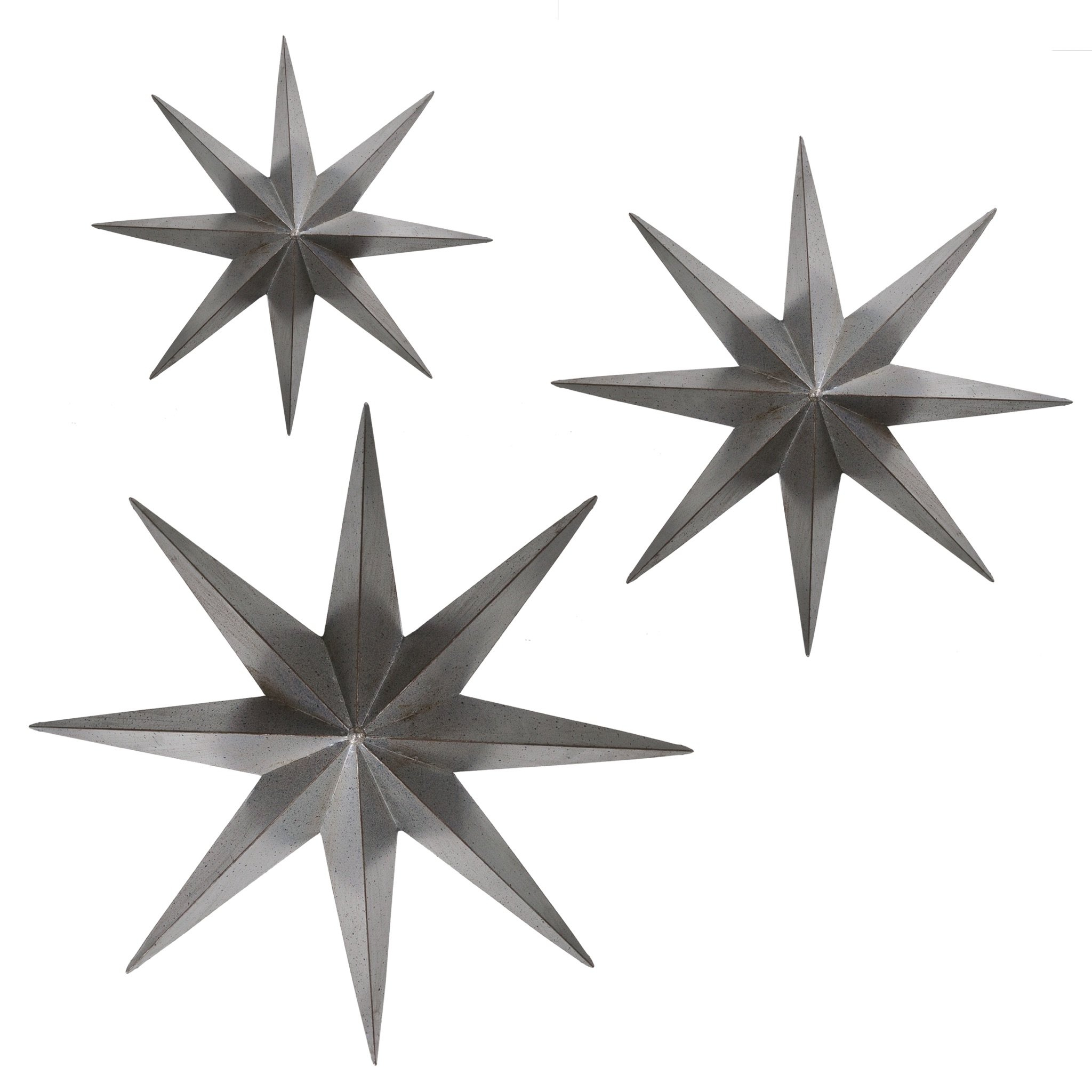 3 Piece Metal Stars Wall Décor Set Throughout 3 Piece Star Wall Decor Sets (View 9 of 30)