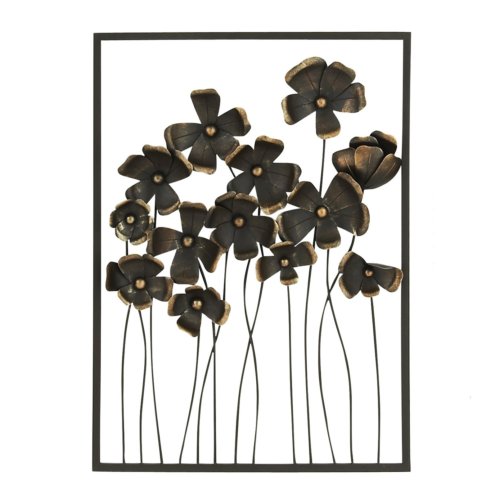 3 Piece Metal Wall Art - Ronniebrownlifesystems within Flower Urban Design Metal Wall Decor (Image 1 of 30)