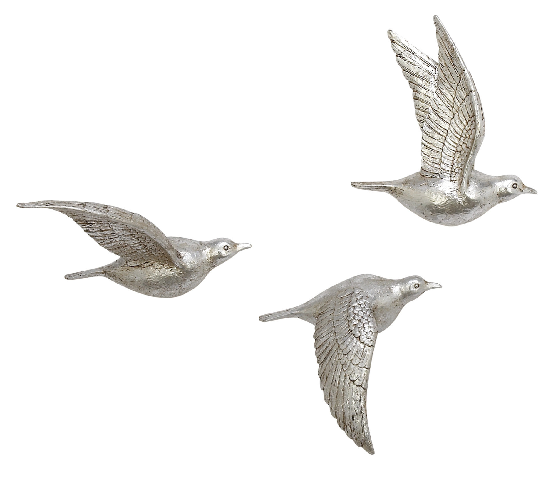 3 Piece Polystone Bird Wall Décor Set With Wall Decor By Charlton Home (View 17 of 30)