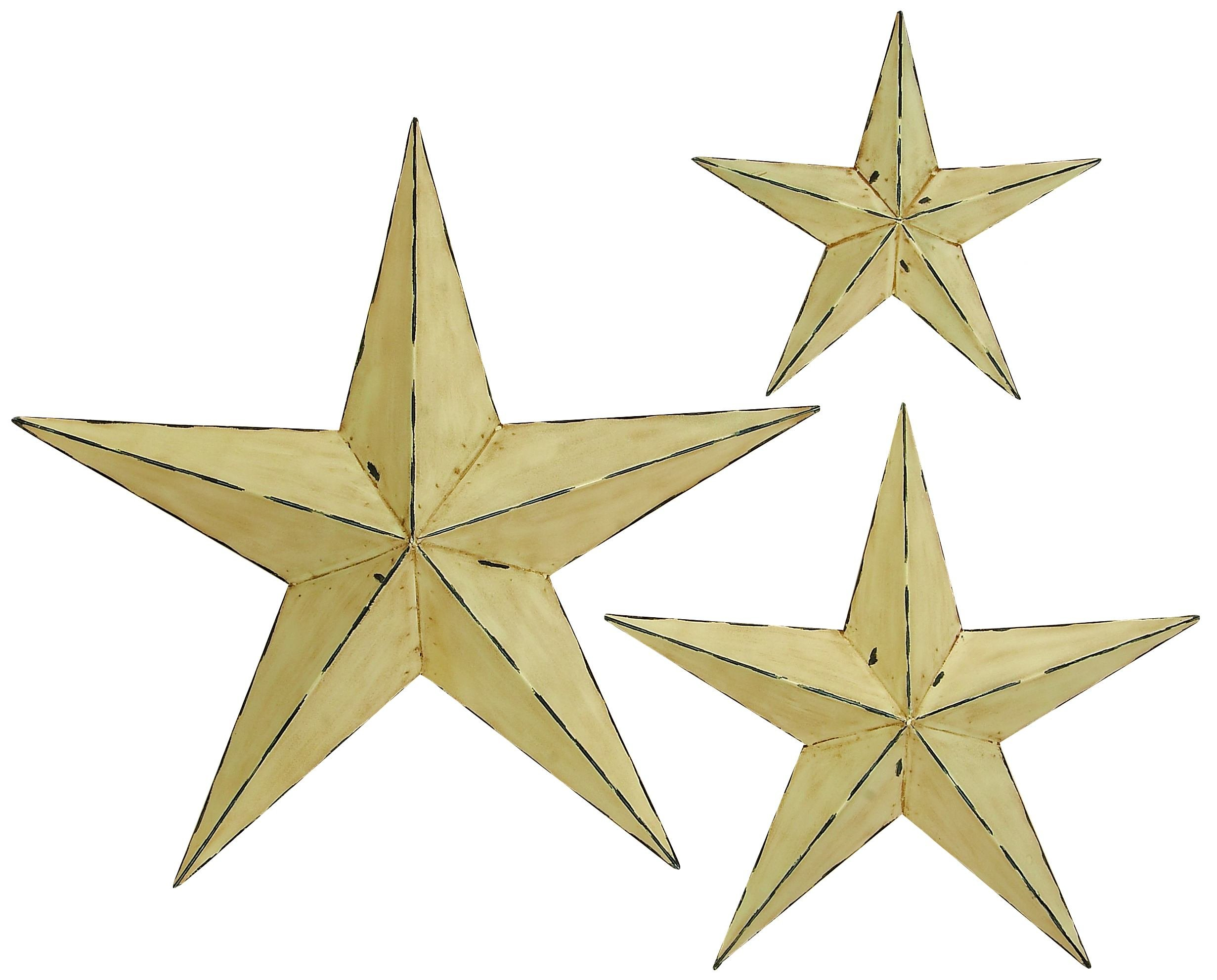 3 Piece Wall Décor Set Throughout 3 Piece Star Wall Decor Sets (View 17 of 30)