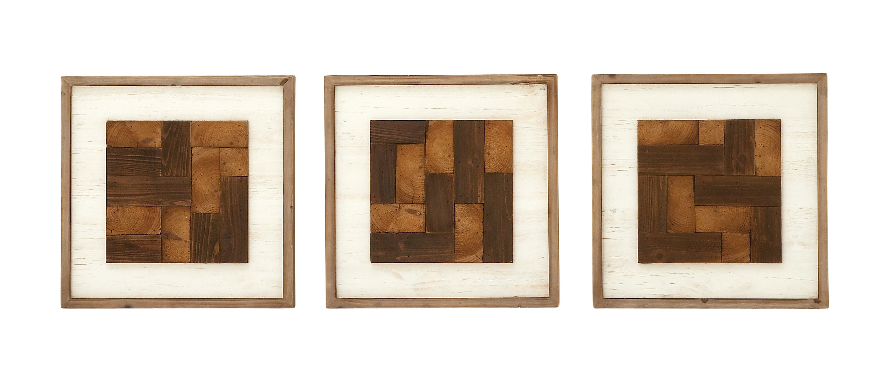 3 Piece Wall Decor Set | Wayfair Throughout 3 Piece Magnolia Brown Panel Wall Decor Sets (View 9 of 30)