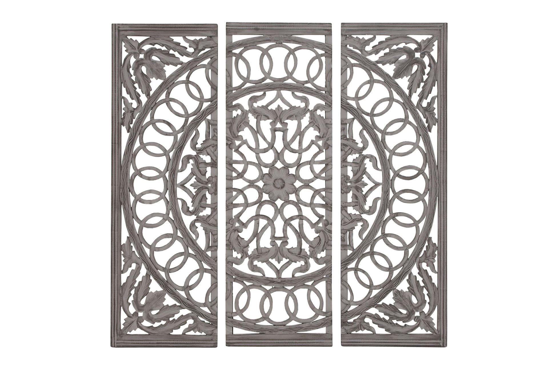 3 Piece Wood Scroll Panels | Decorating Ideas | Wall Decor Inside Scroll Panel Wall Decor (View 2 of 30)